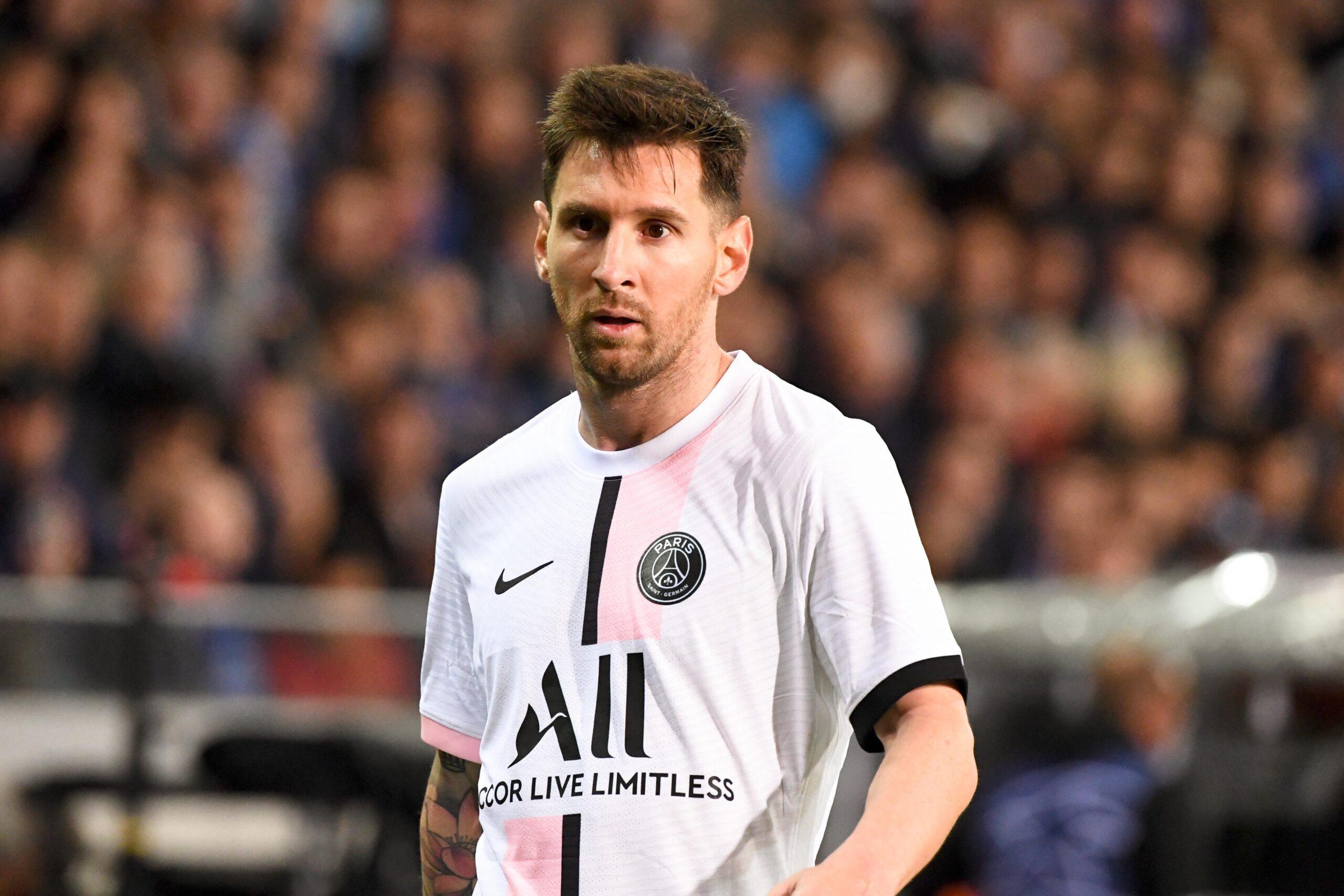Lionel Messi sous le maillot du Paris Saint-Germain (IconSport)
