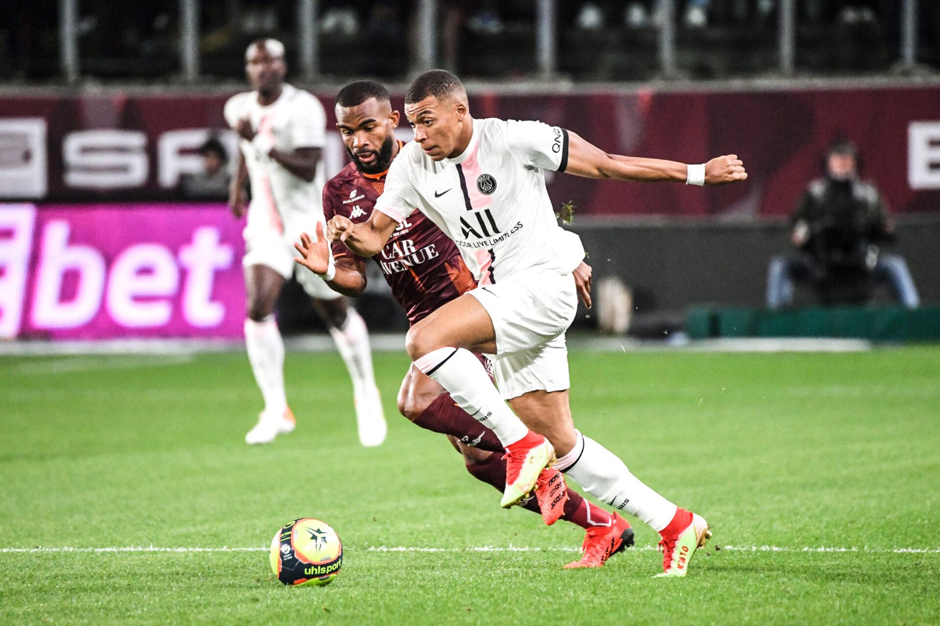 Kylian Mbappé, auteur de quatre buts cette saison en Ligue 1, n'a plus marqué depuis le 11 septembre 2021. Icon Sport