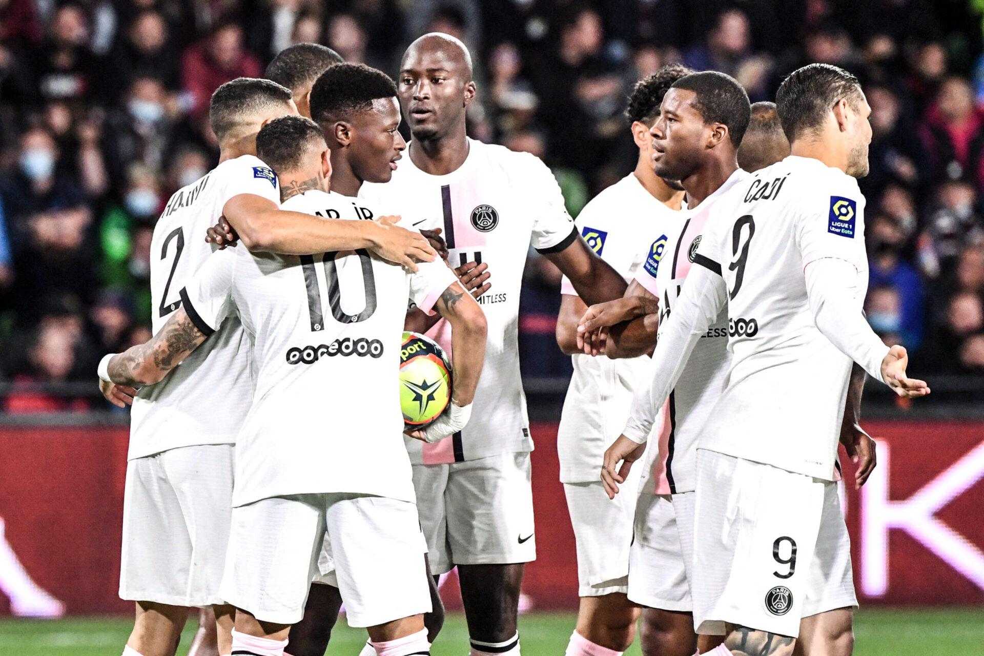 La joie parisienne sur l'ouverture du score d'Hakimi (iconsport)
