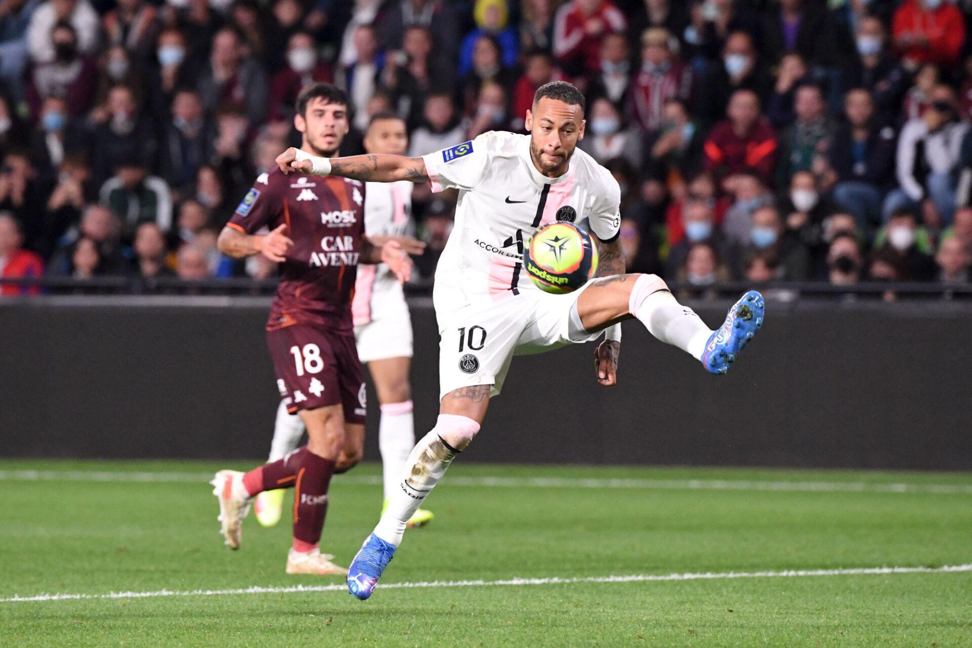 Neymar auteur d'une passe décisive face à Metz (iconsport)