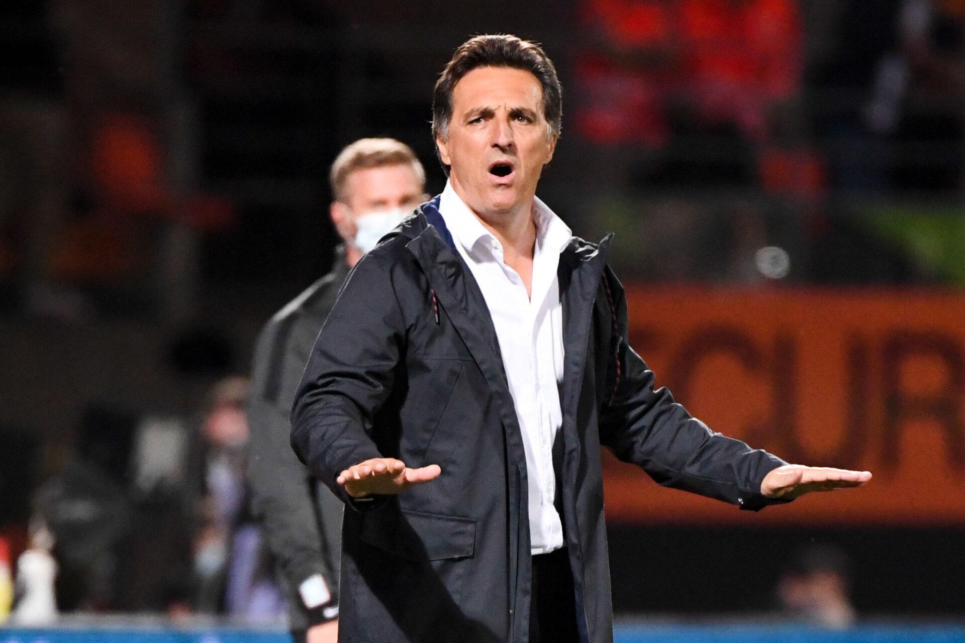 Christophe Pélissier, l'entraîneur de Lorient. Icon Sport