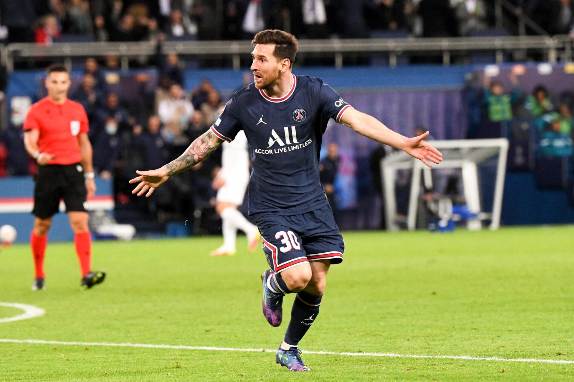 La joie de Lionel Messi après son but face à City (iconsport)