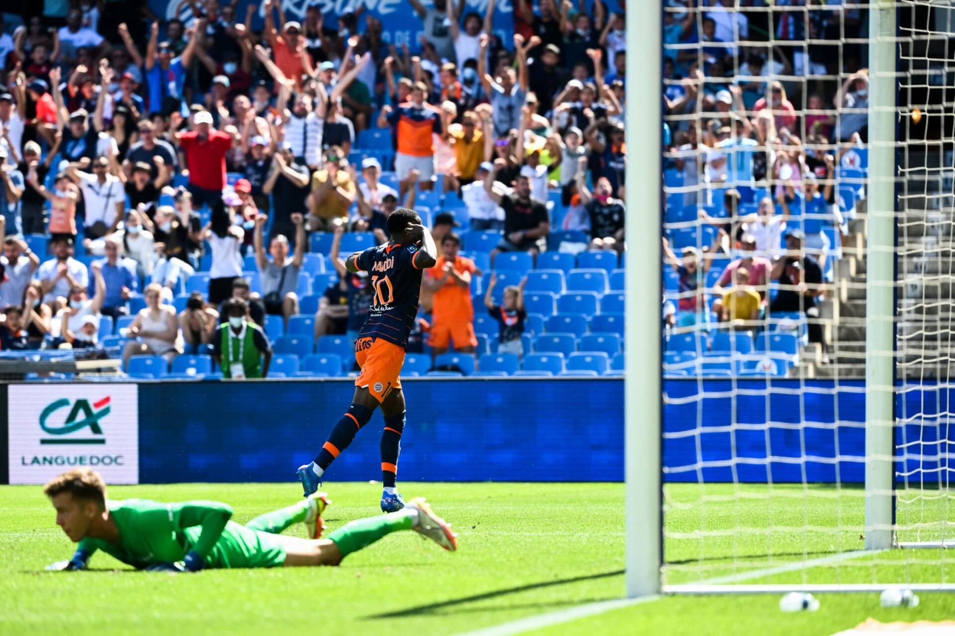 Stephy Mavididi a signé un geste remarquable pour ouvrir le score. Icon Sport