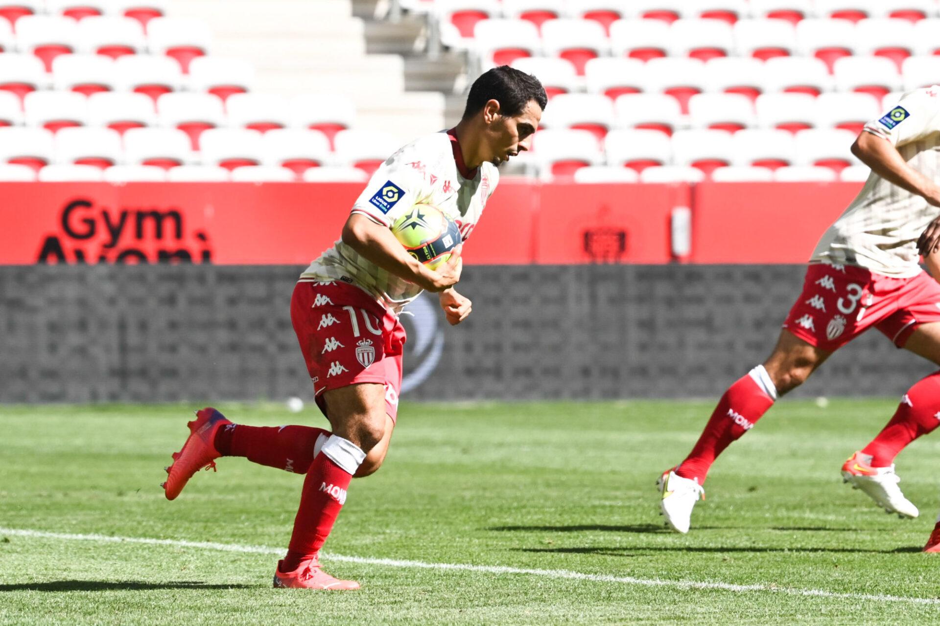 En égalisant sur penalty, Wissam Ben Yedder a permis à Monaco de repartir de Nice avec un point. Icon Sport