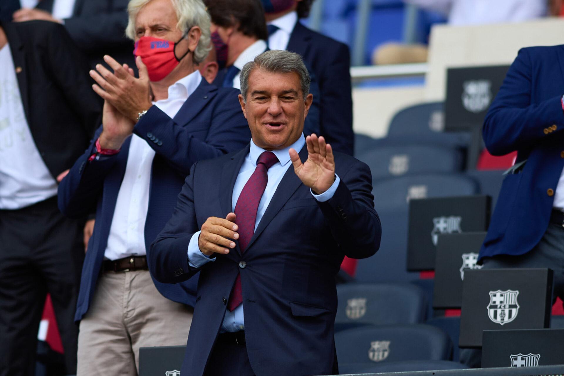 Joan Laporta a tenu a rassuré les supporters du Barça après un été agité. Icon Sport