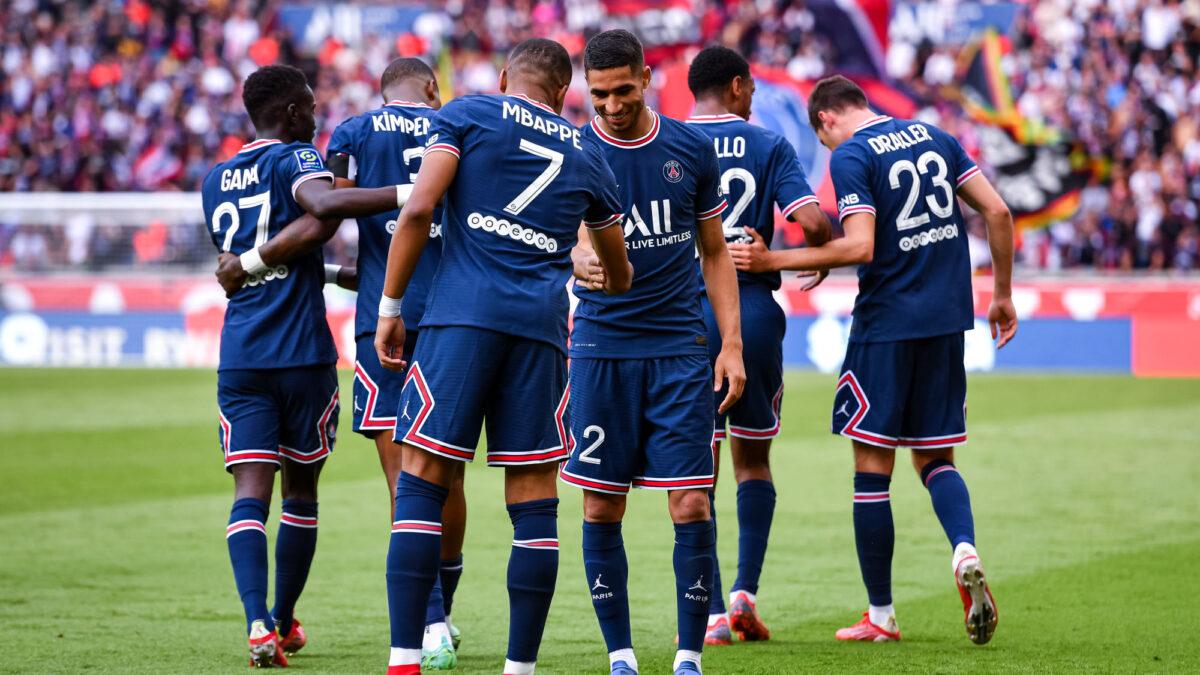 Le PSG de Kylian Mbappé et Achraf Hakimi n'a pas fait de détail contre Clermont (4-0). Icon Sport