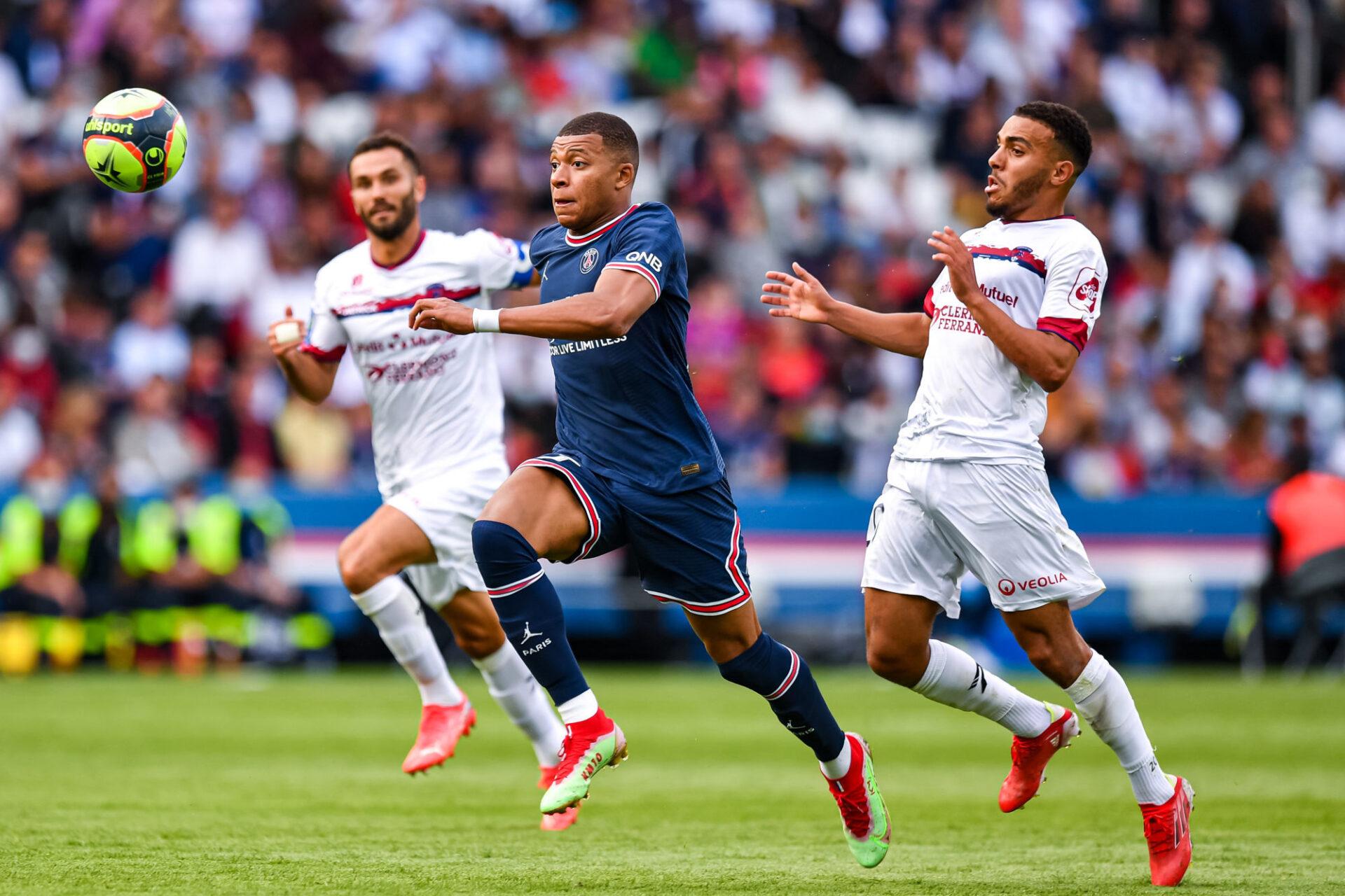 Kylian Mbappé lors de la dernière journée de Ligue 1 face à Clermont (4-0). Icon Sport
