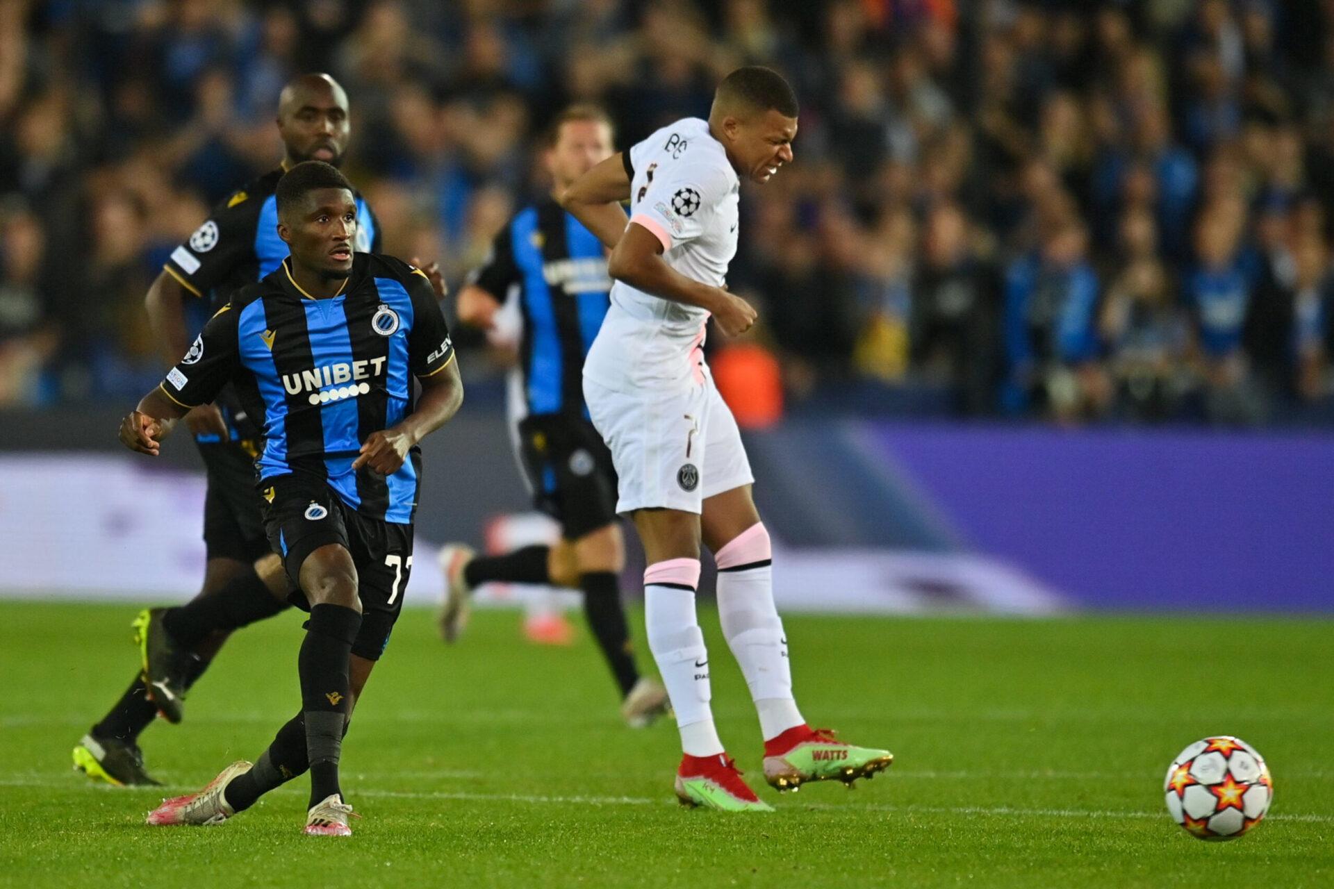 Kylian Mbappé blessé lors du match face à Bruges (iconsport)