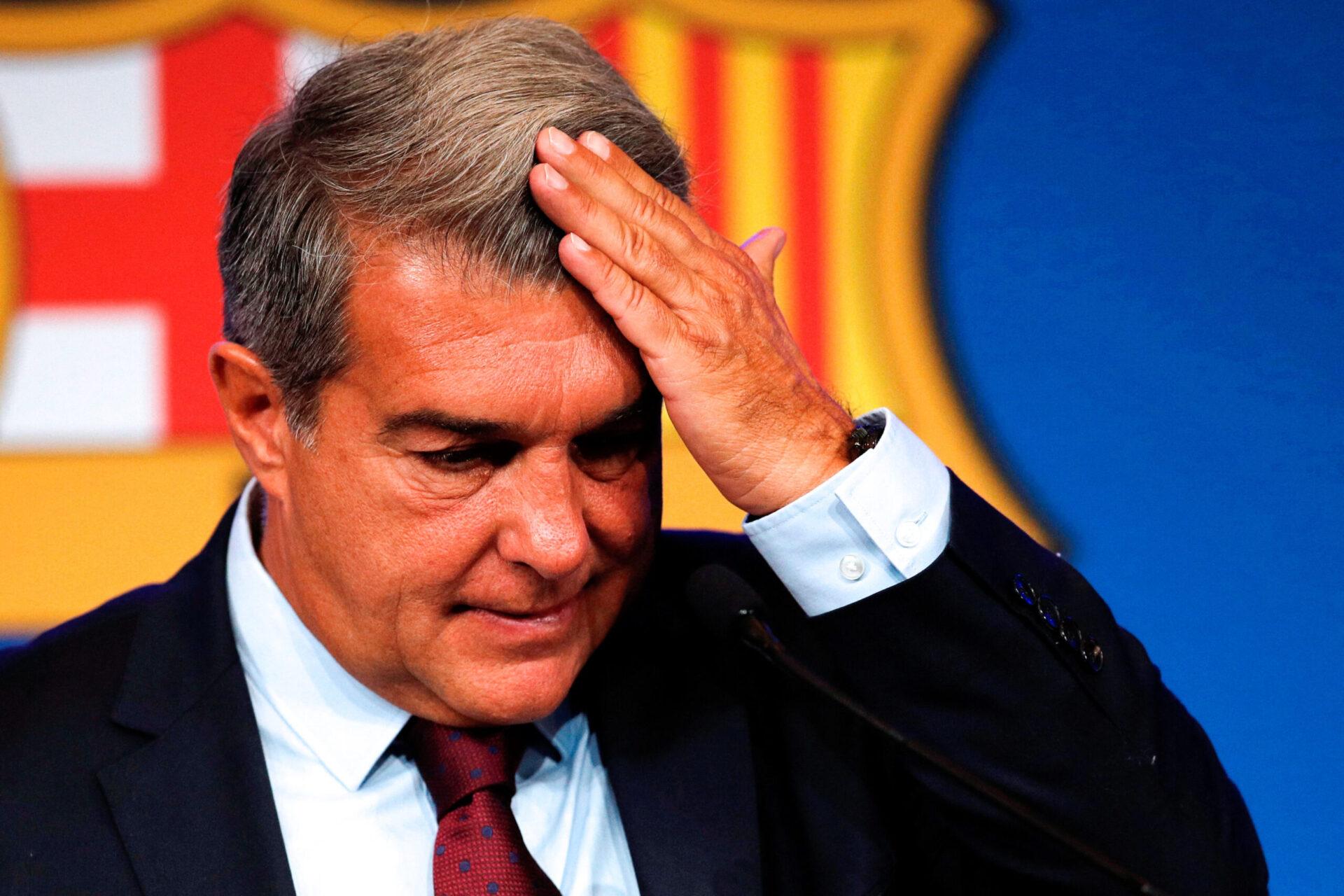 Joan Laporta s'est adressé aux supporters du Barça, leur demandant de la patience et du soutien. Icon Sport