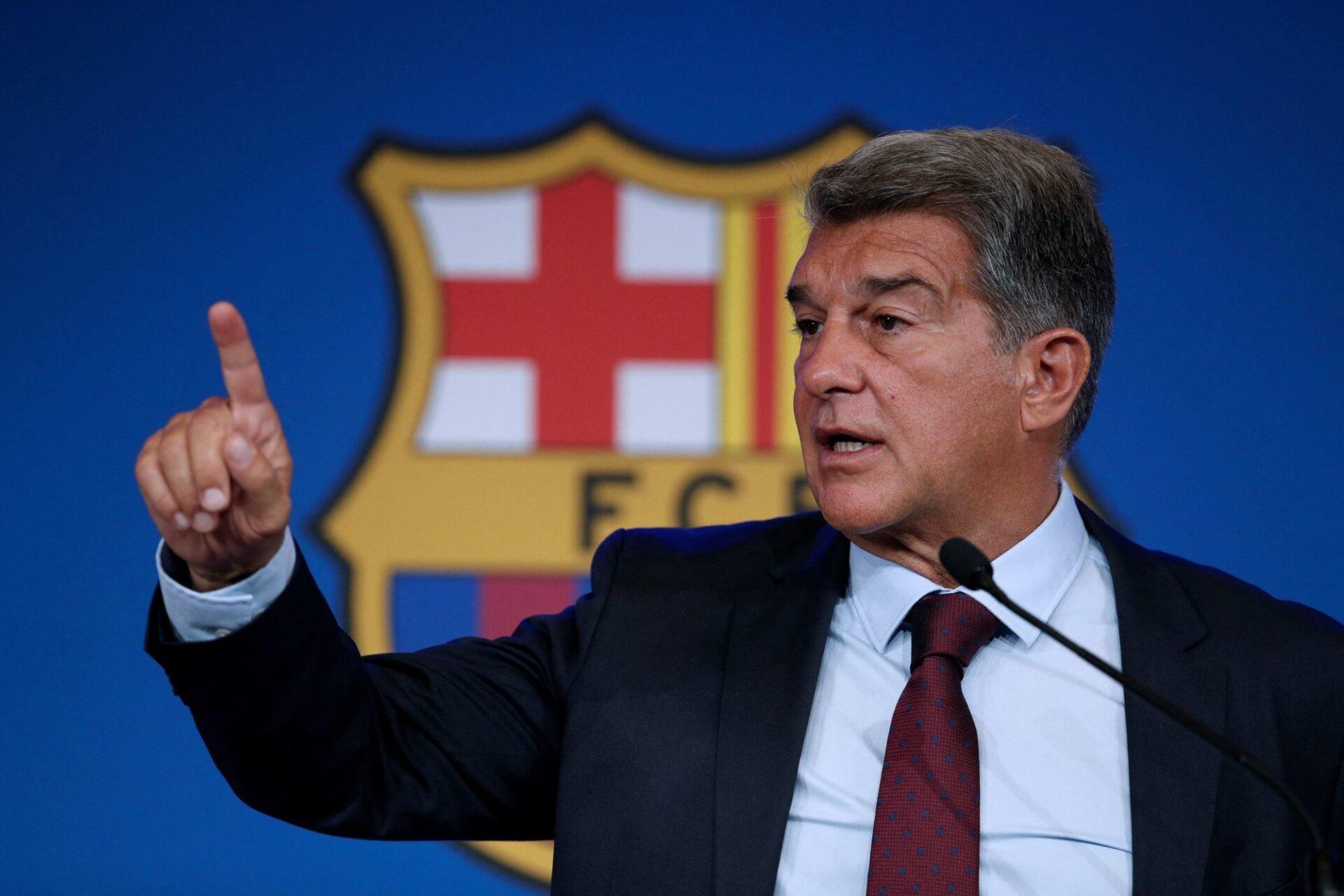 Joan Laporta veut y croire : le Barça ira mieux financièrement dans quelques mois. Icon Sport