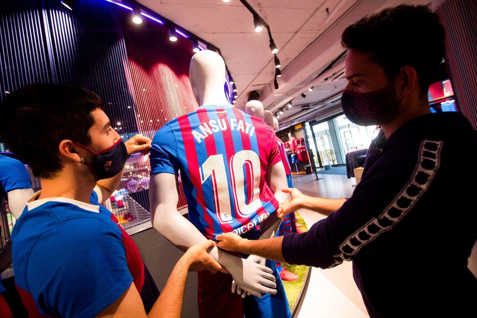 Ansu Fati va pouvoir étrenner son nouveau n°10 prochainement avec le Barça. Icon Sport