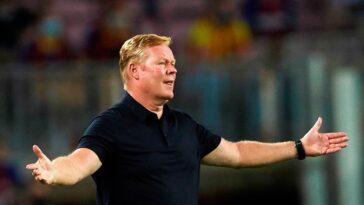 S'il sera toujours en poste au moment du match l'Atlético, Ronald Koeman pourrait vivre son dernier match à la tête du Barça face aux Colchoneros (iconsport)