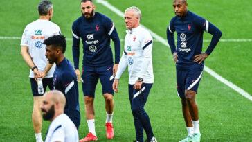 Didier Deschamps a nié tout problème d'ambiance chez les Bleus. Icon Sport