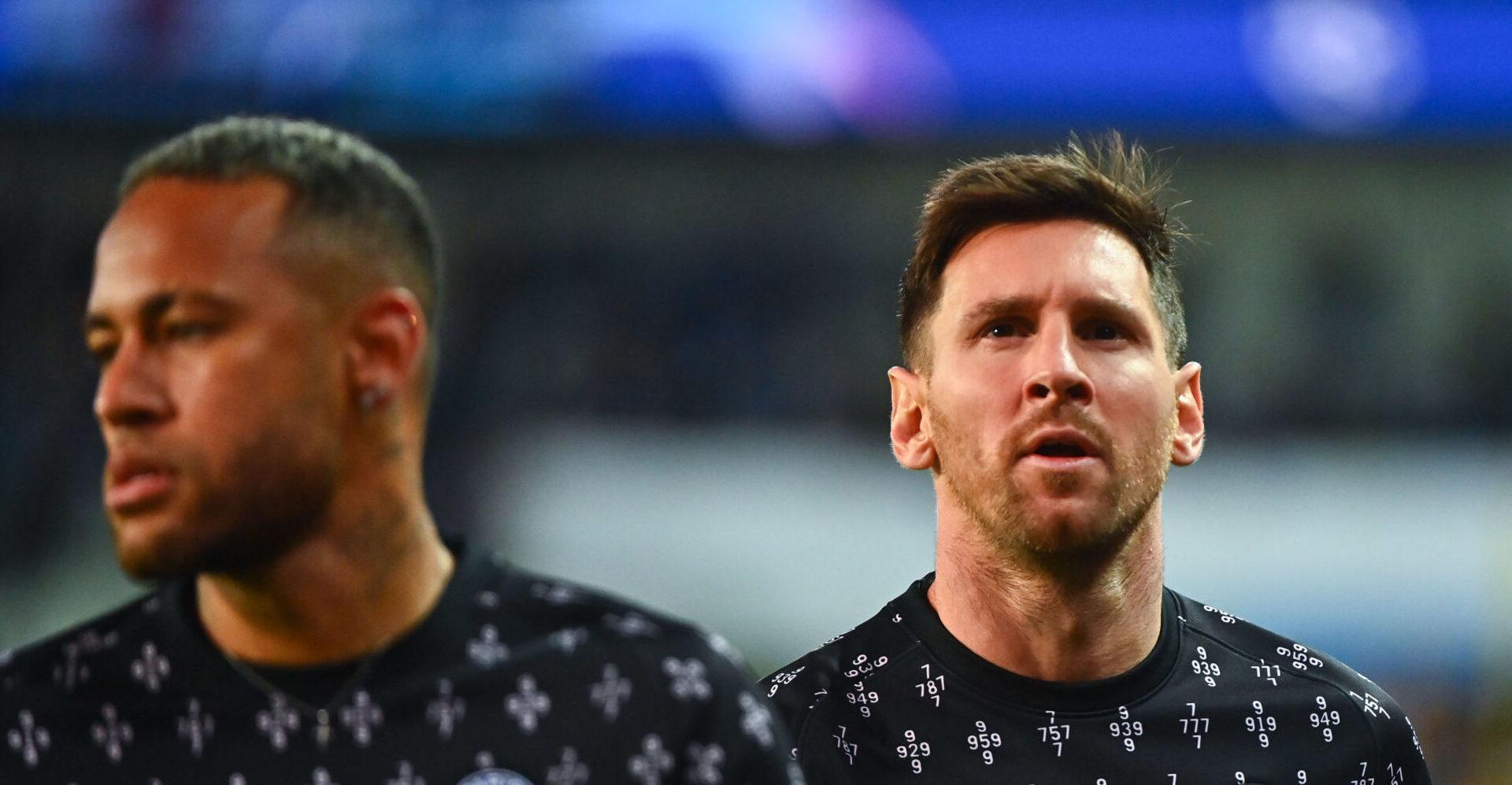 Messi à l'échauffement avant son premier match de Ligue des Champions avec le PSG (iconsport)
