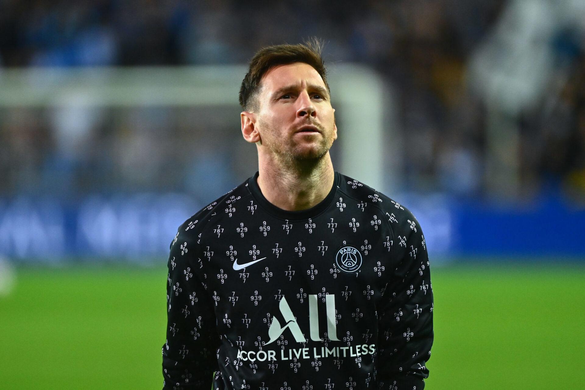 Lionel Messi sous le maillot parisien (iconsport)