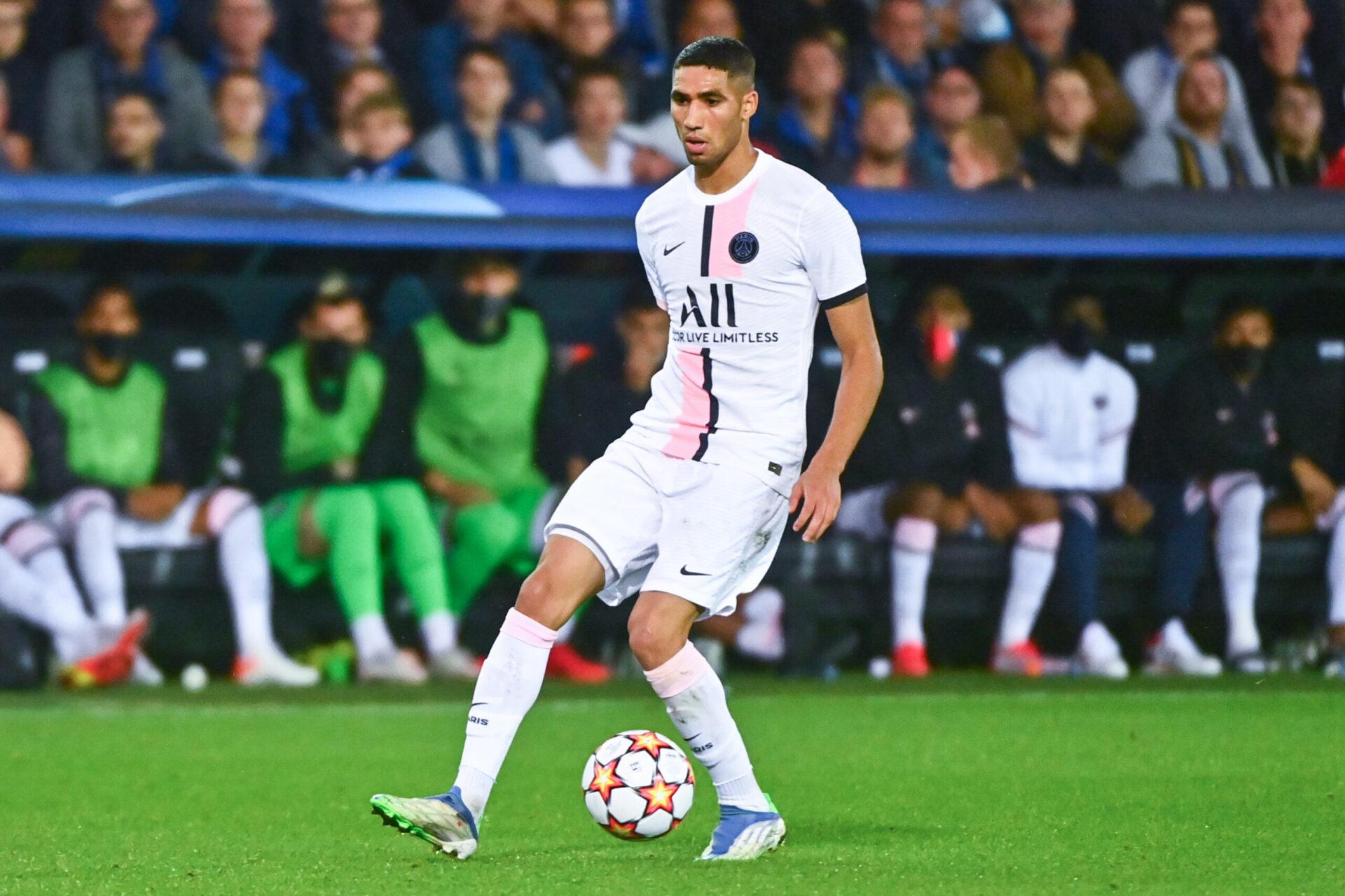 Arrivé au PSG cet été, Achraf Hakimi rêverait de rejouer au Real Madrid selon Antonio Conte (iconsport)