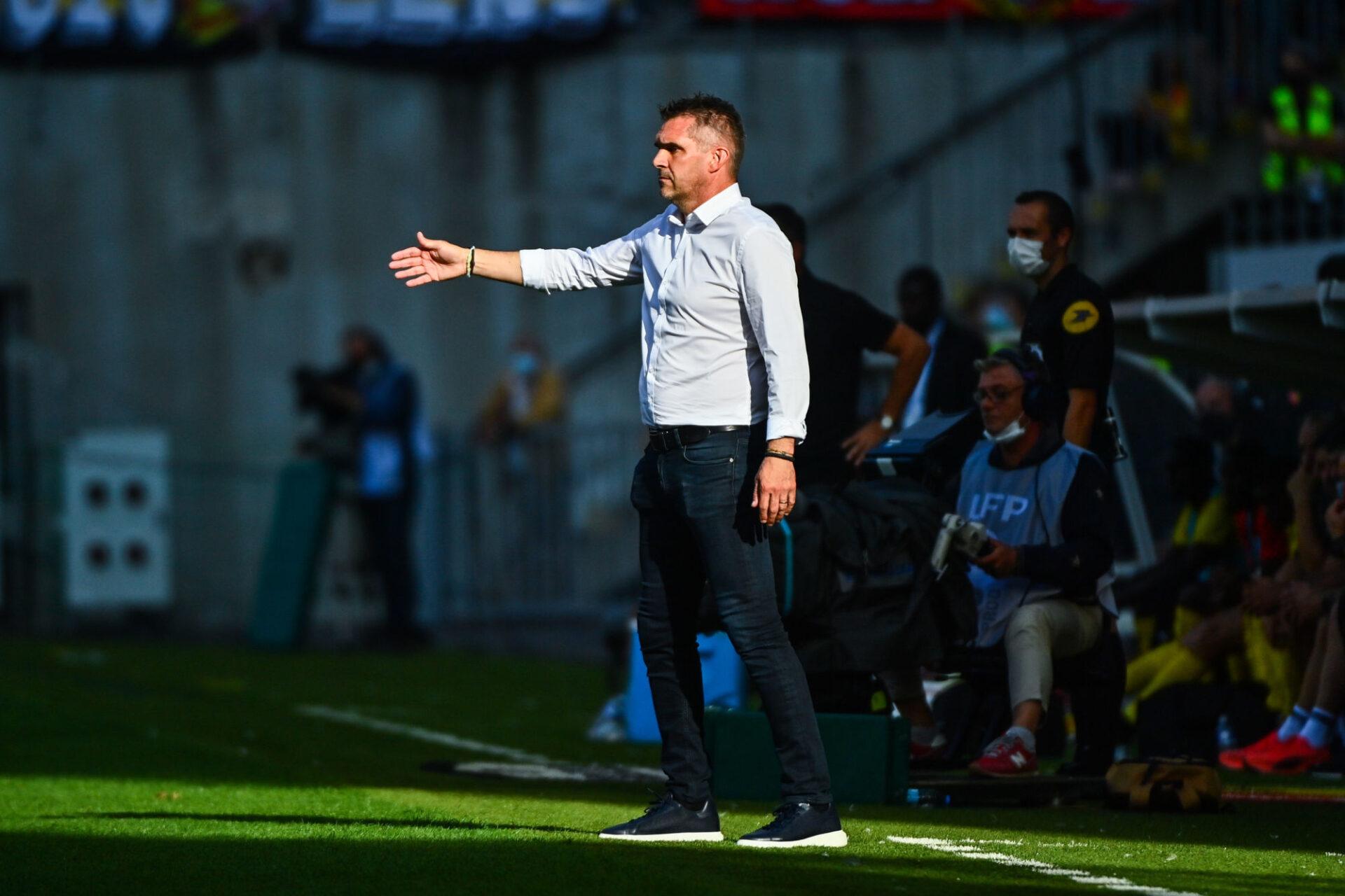 """Jocelyn Gourvennec, l'entraîneur de Lille, veut que les supporters """"puissent aller assister à un match tranquillement"""", sans crainte de débordements ou autres. Icon Sport"""