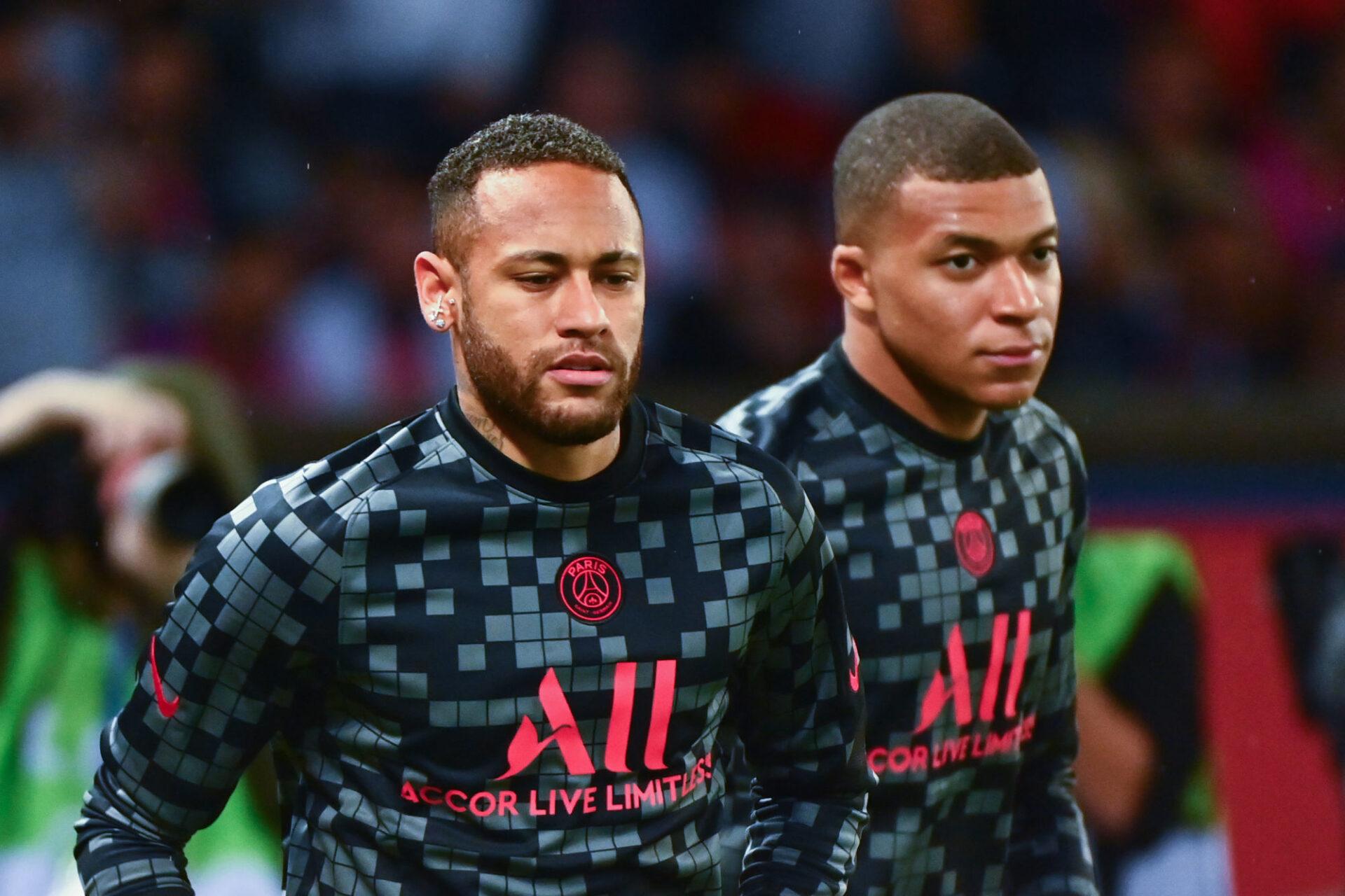Entre Neymar et Kylian Mbappé, ça va (plus) mal (qu'avant). Icon Sport