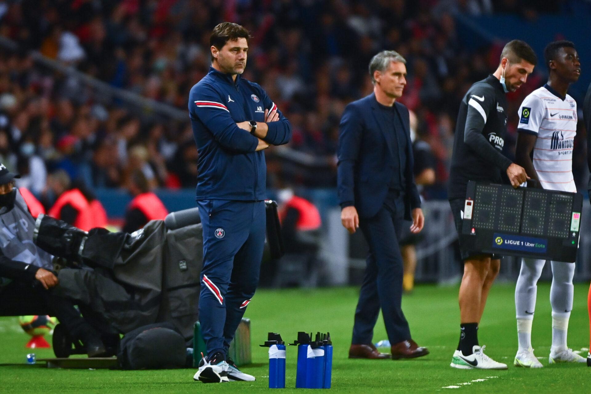 Mauricio Pochettino sur le banc du PSG face à Montpellier (iconsport)