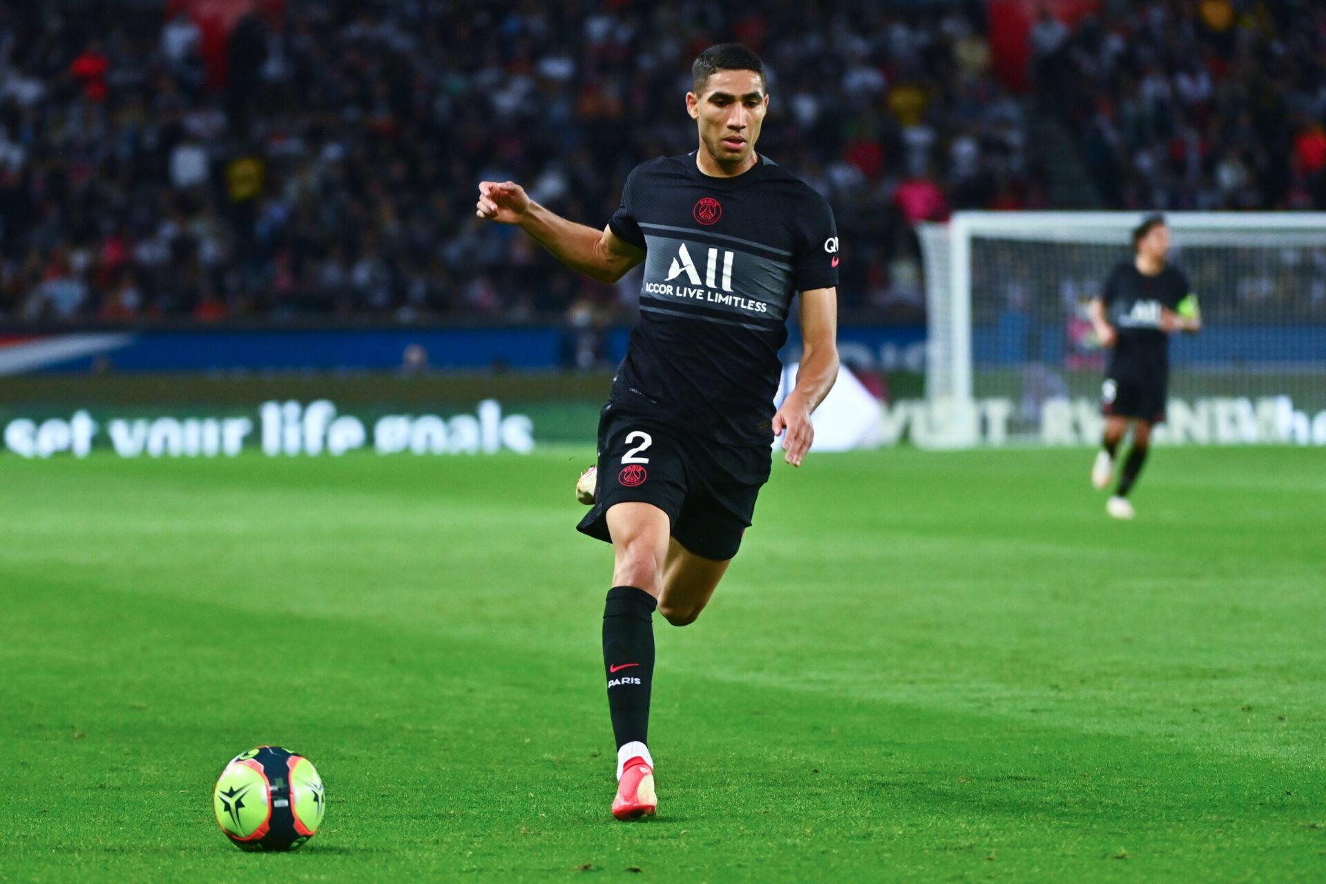 Avec Achraf Hakimi, le PSG s'est considérablement renforcé à un poste faible de la saison dernière. En avril, Alessandro Florenzi avait été titulaire contre Manchester City (iconsport)