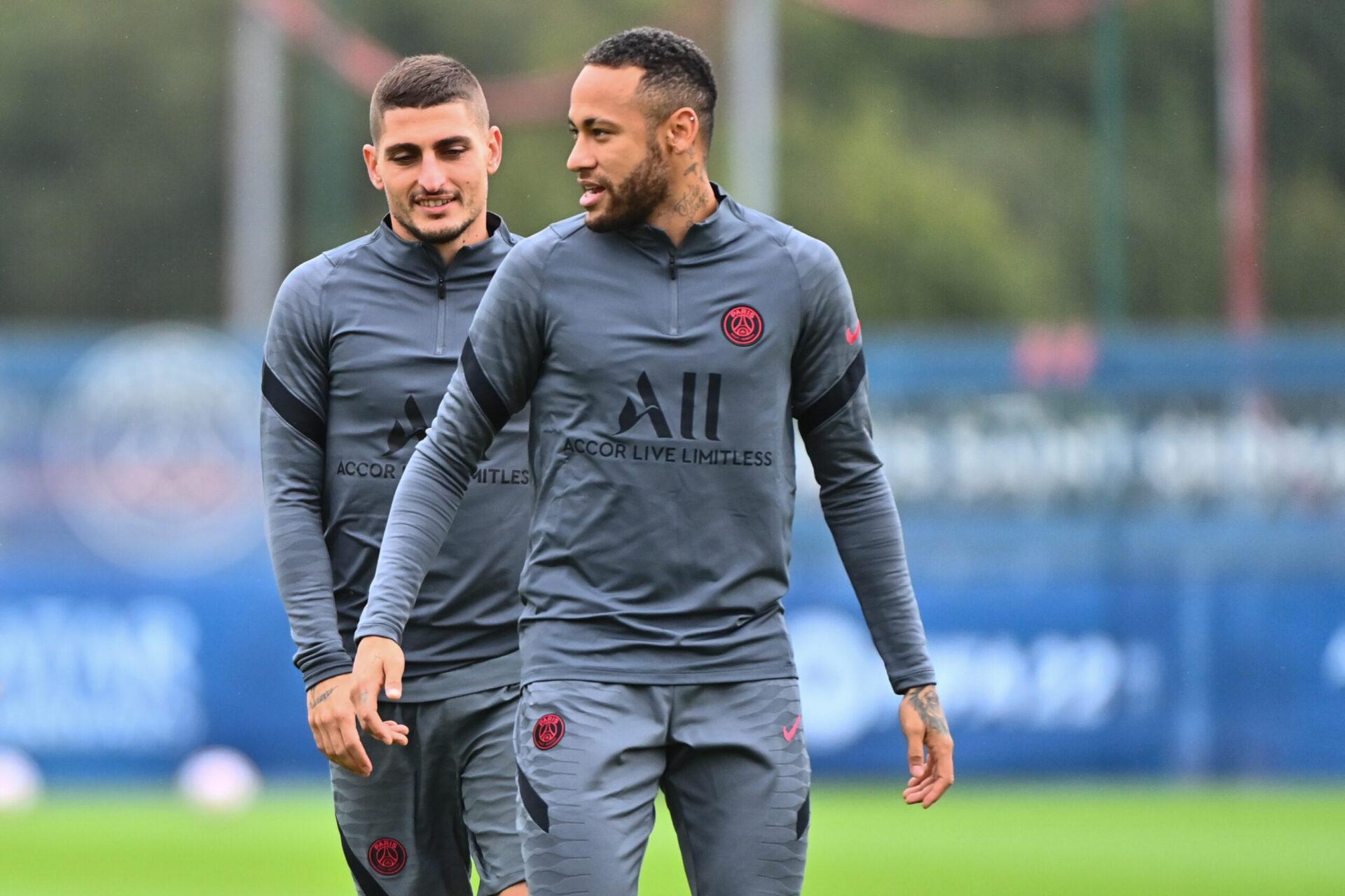 Tout juste de retour à l'entraînement après presque un mois d'absence, Marco Verratti ne devrait pas être en mesure de débuter face à Manchester City (iconsport)