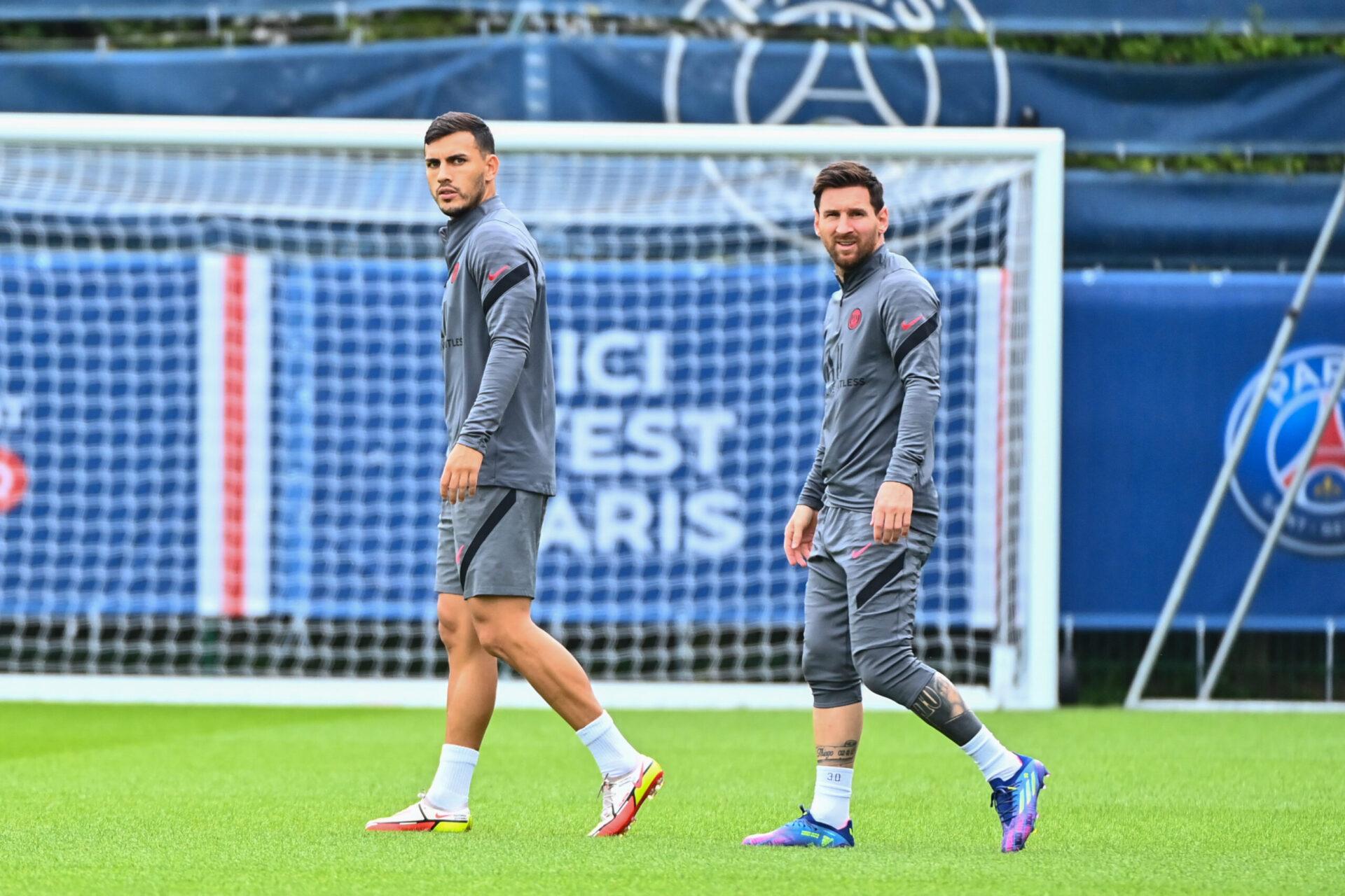 Lionel Messi a participé aux deux séances d'entraînement collectif précédant la rencontre face à Manchester City (iconsport)
