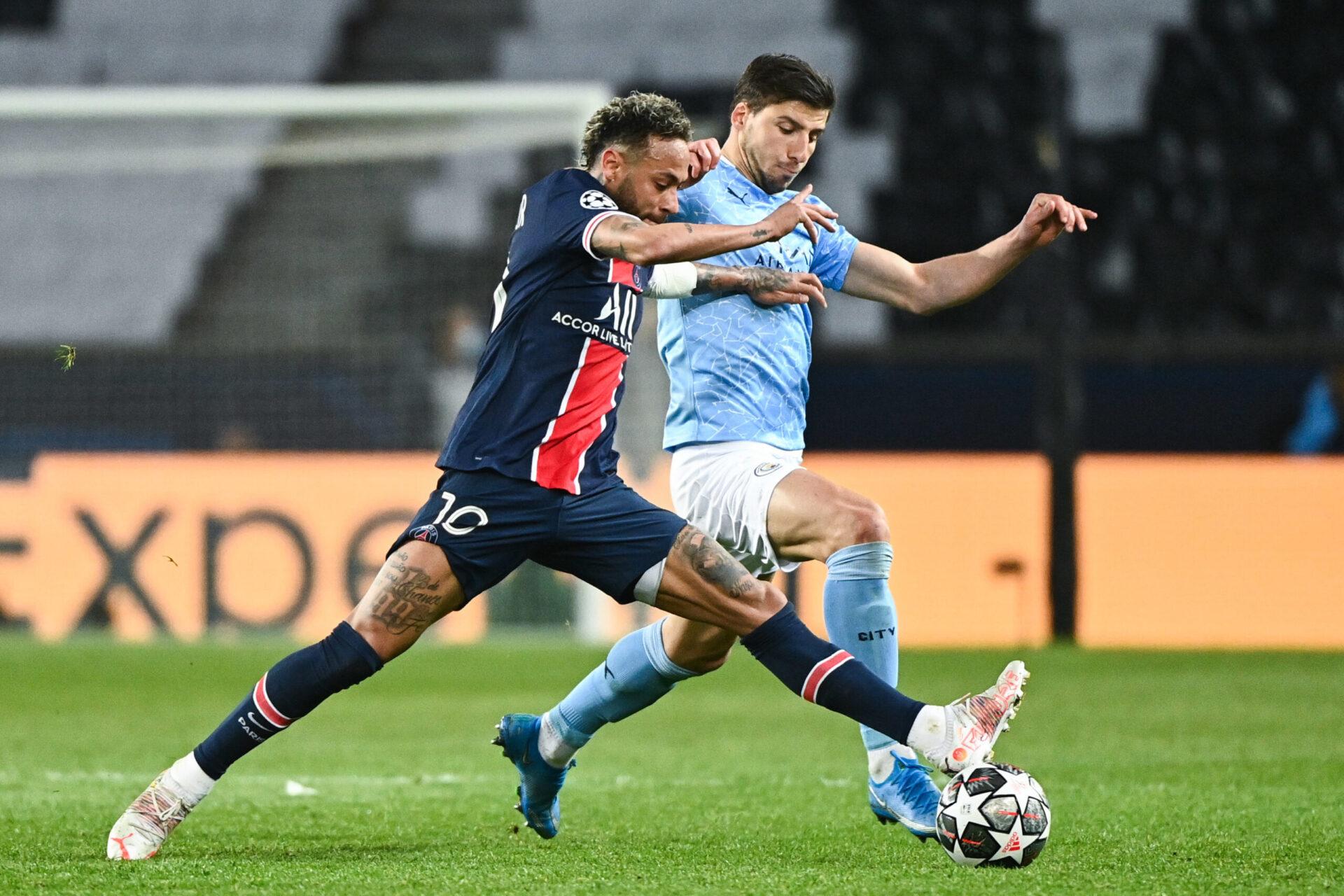 Ruben Dias au duel avec Neymar lors de la double confrontation de Ligue des champions l'année dernière (iconsport)