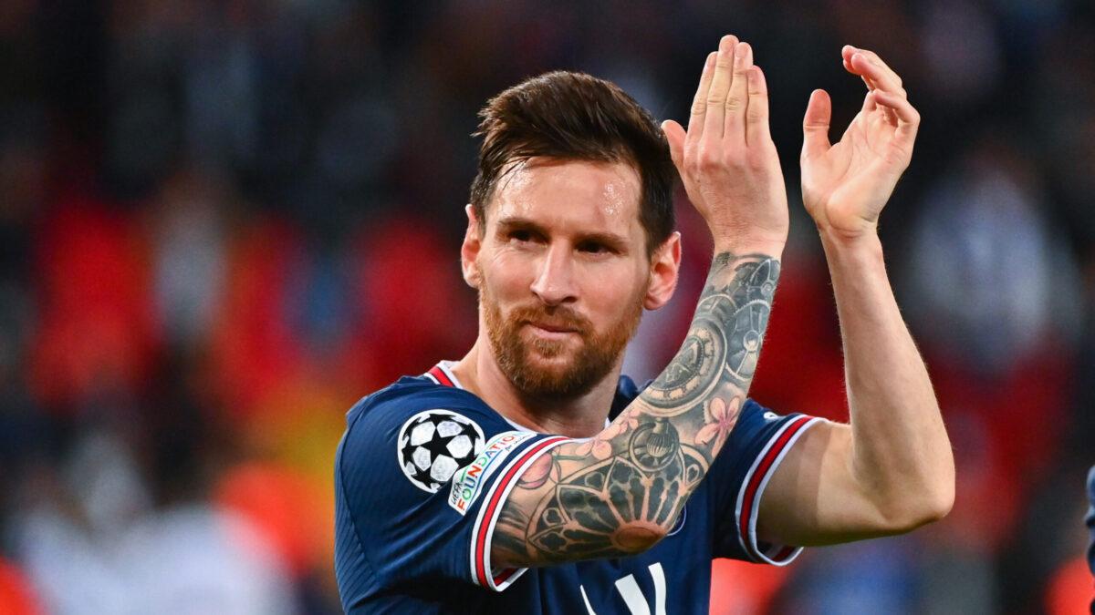 Lionel Messi heureux après son premier but avec le PSG (iconsport)
