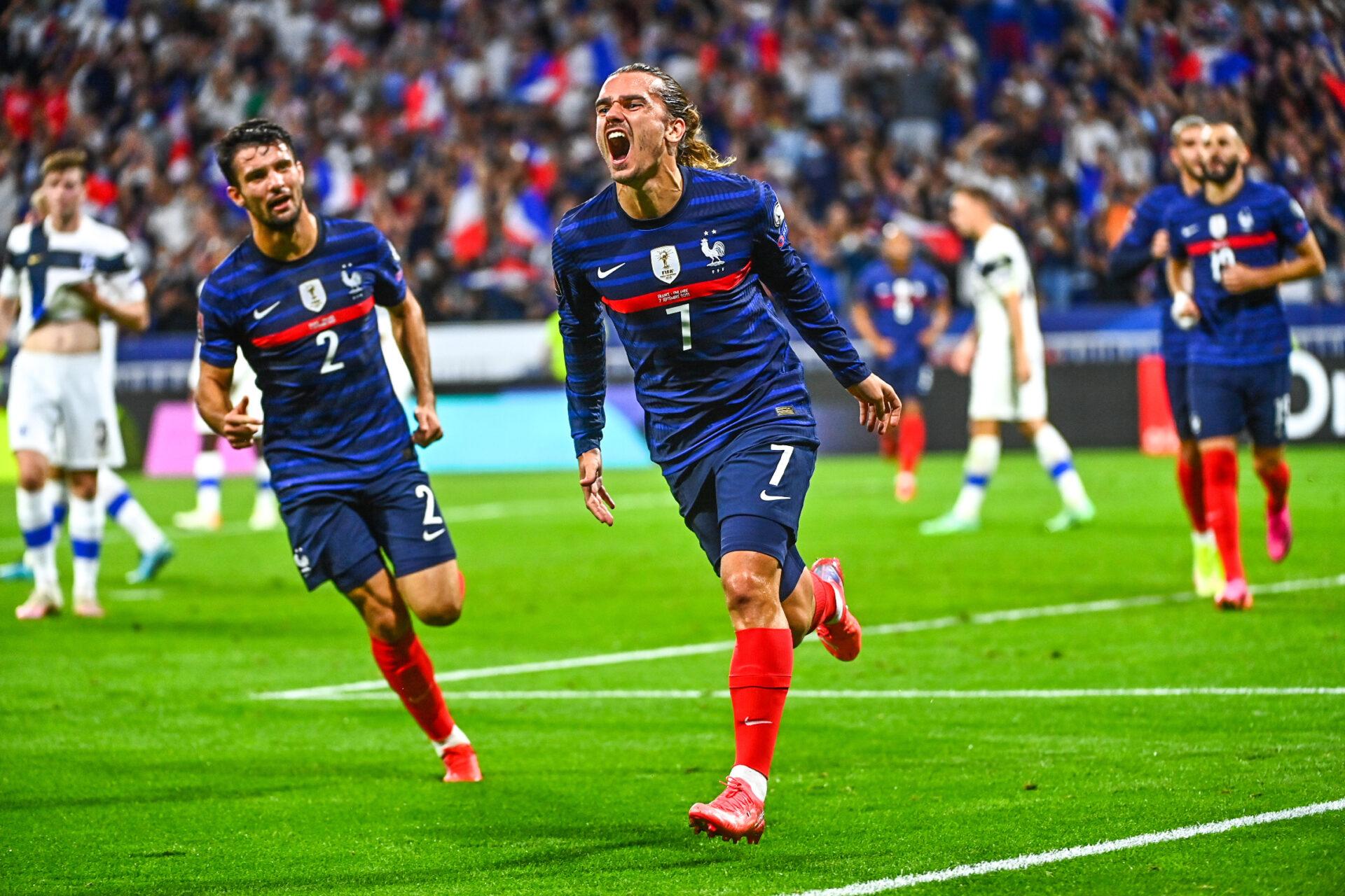 Griezmann, ouvre la marque pour les bleus à la 25e minute (IconSport)