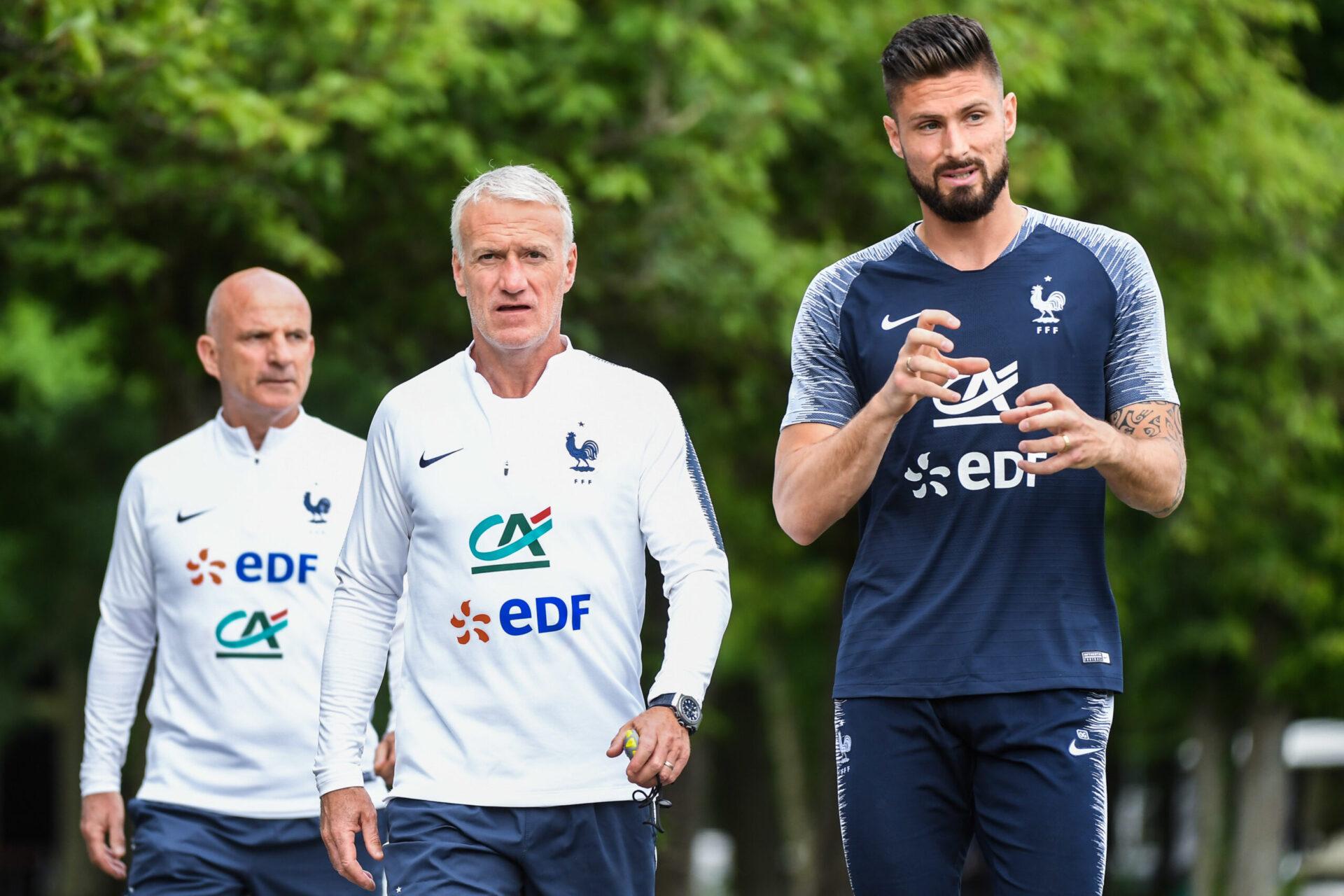 Absent du dernier rassemblement, Olivier Giroud a regretté sur Téléfoot l'attitude de Didier Deschamps (iconsport)