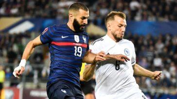 L'équipe de France de Karim Benzema n'a pas retrouvé la victoire après le fiasco de l'Euro. Les Bleus ont été tenus en échec par la Bosnie (1-1), ce mercredi 1er septembre. Icon Sport