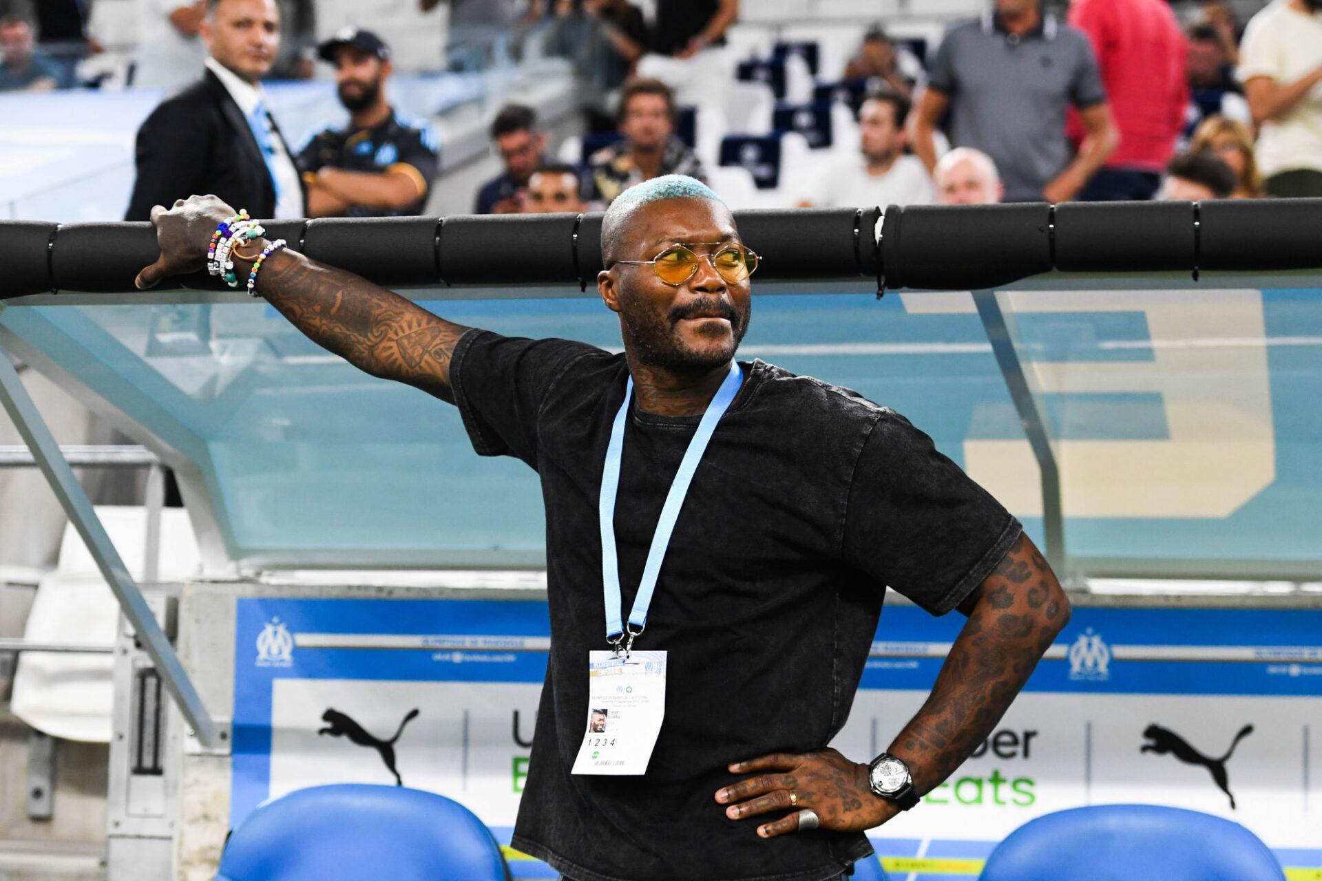 Djibril Cissé en 2019 sur le banc de l'OM. Icon Sport