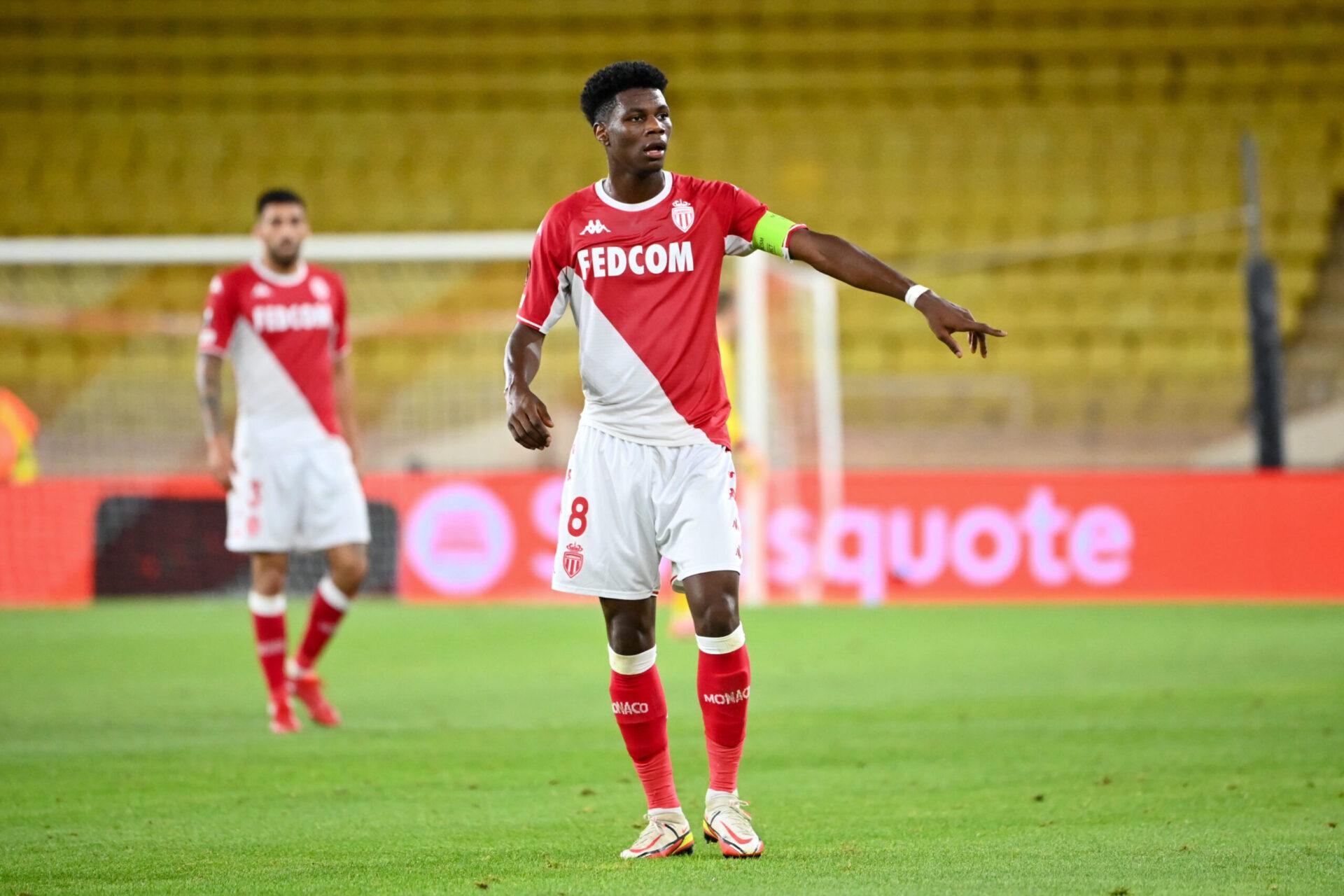 Aurélien Tchouaméni devrait être au cœur du 3-4-3 de Monaco ce soir contre la Real Sociedad (iconsport)
