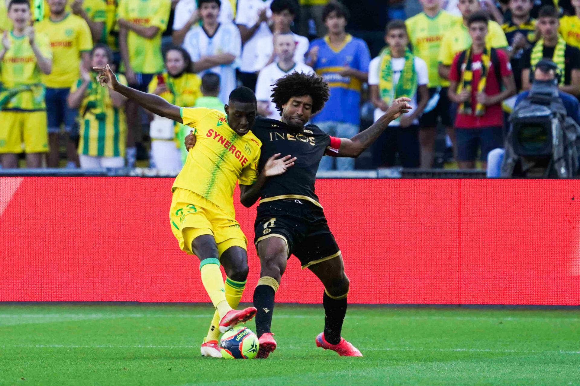 Nantes a longtemps gêné avec son pressing haut et féroce. Icon Sport