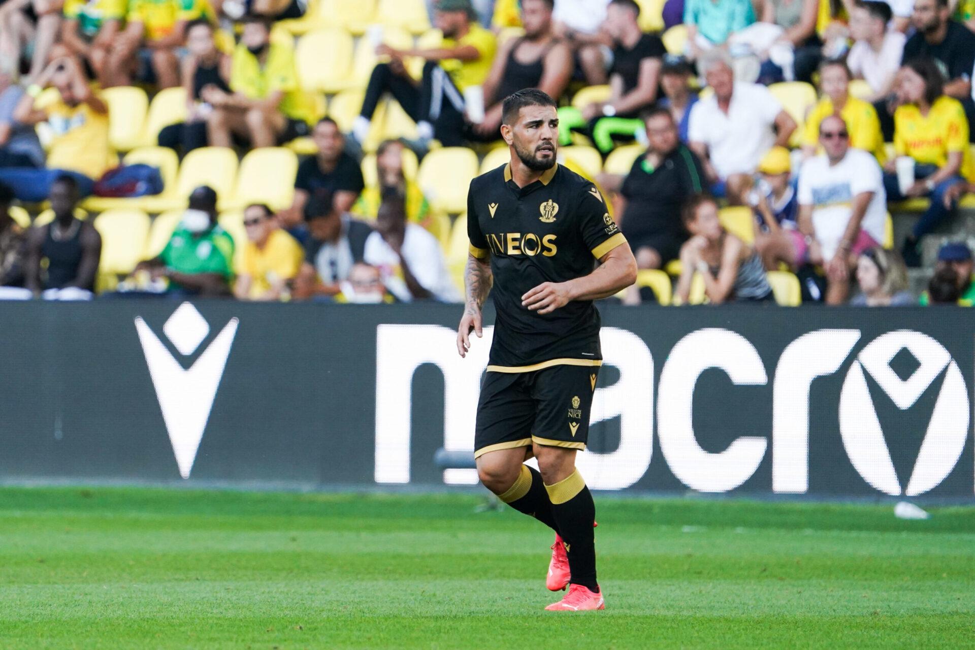 Andy Delort a joué ses premières minutes avec le Gym contre Nantes, et a déjà été décisif. Icon Sport