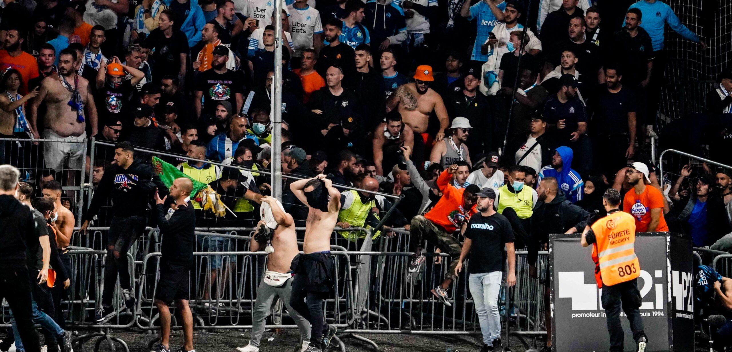 Des supporters angevins et marseillais se sont affrontés après la rencontre (iconsport)