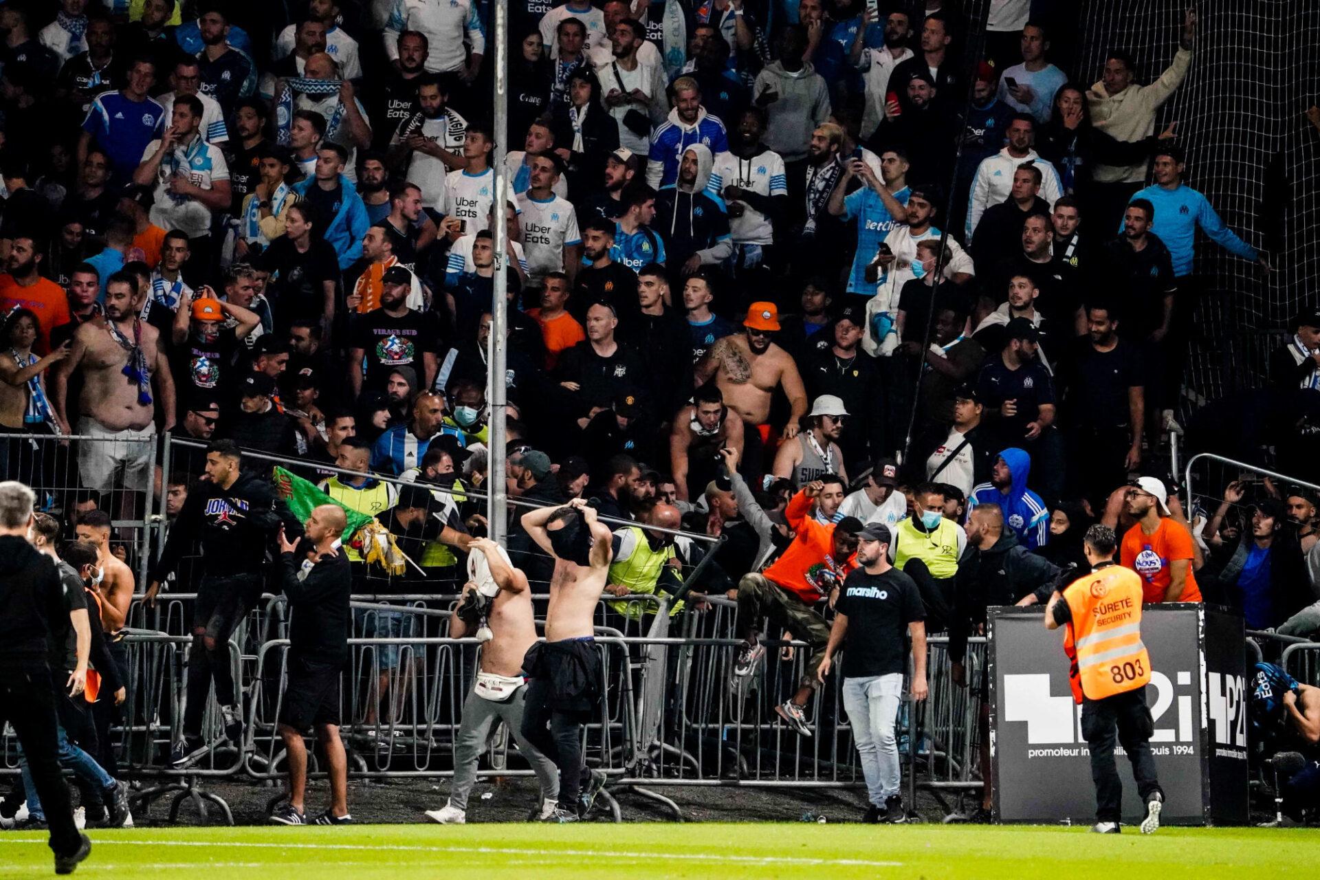 Des supporters de l'OM et d'Angers se sont affrontés mercredi 22 septembre. Icon Sport