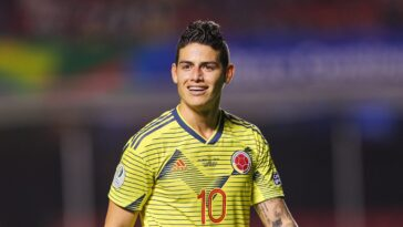 James Rodriguez sous le maillot de la Colombie (IconSport)