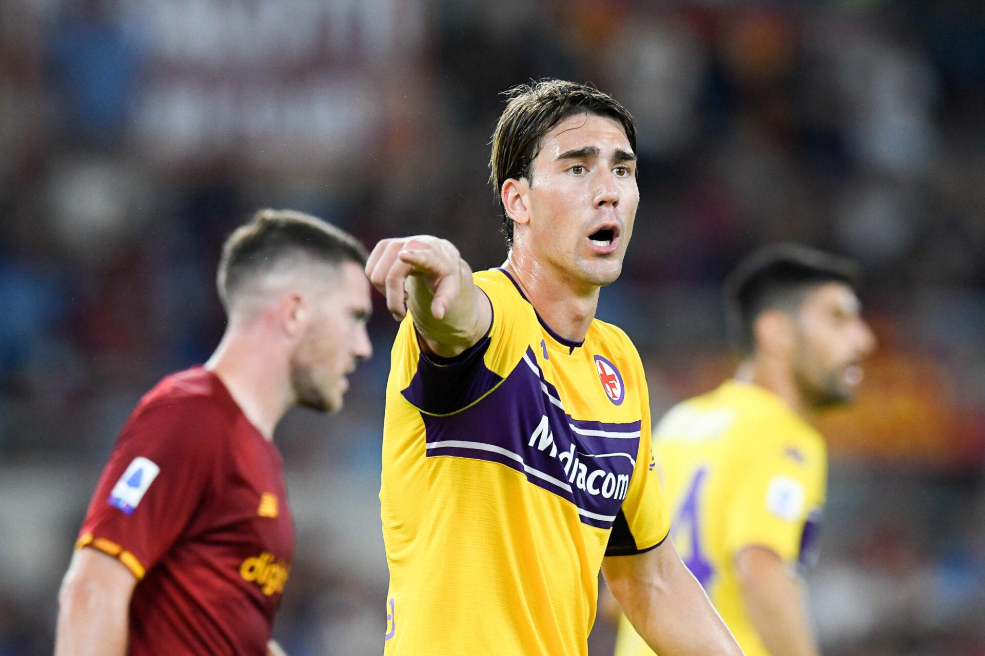 Dušan Vlahović était courtisé par Tottenham, l'Atlético et Manchester City lors du mercato d'été. Icon Sport