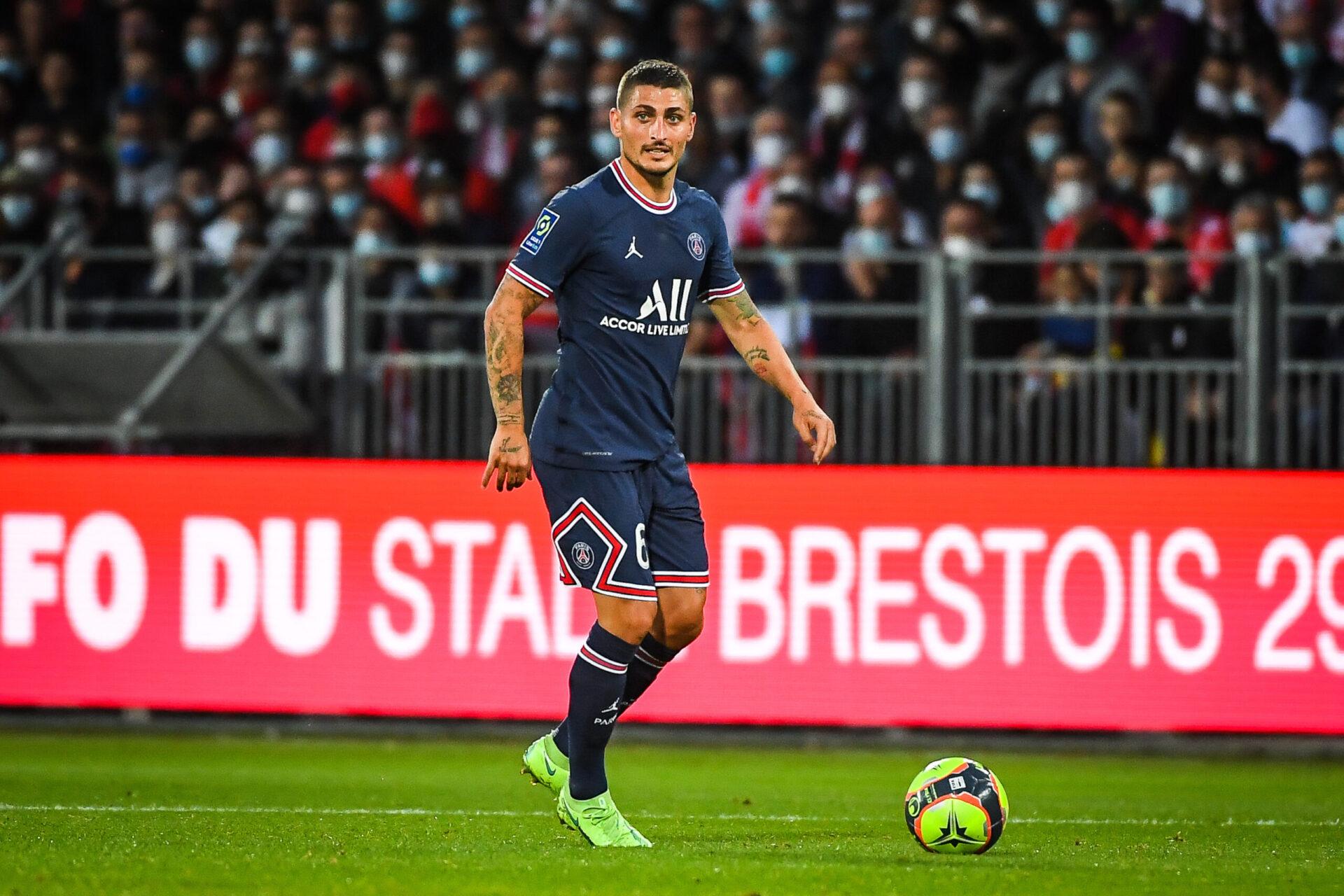 Marco Verratti, blessé depuis le début du mois de septembre, sera-t-il de la partie contre Manchester City ? Icon Sport