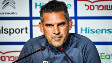 Jocelyn Gourvennec était en conférence de presse avant la rencontre de Ligue 1 contre le RC Lens. Icon Sport