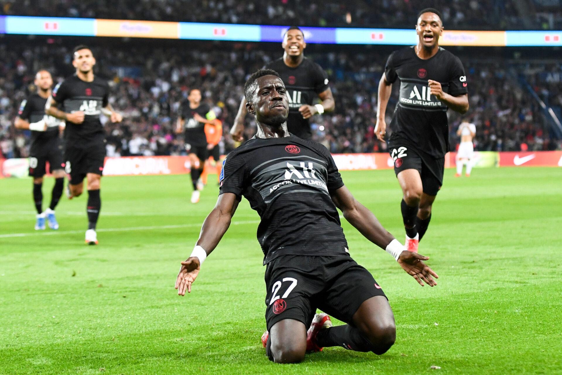 La joie d'Idrissa Gueye sur son but (iconsport)