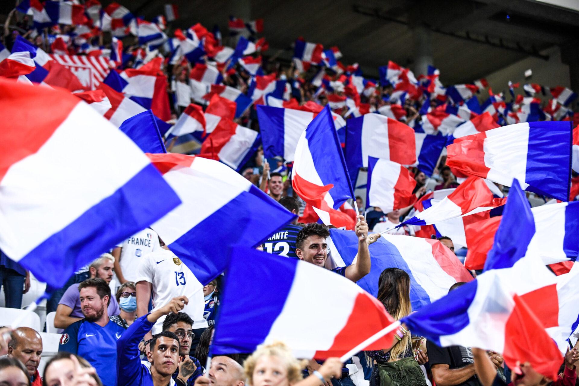L'ambiance est magnifique au Groupama Stadium de Lyon lors de ce France - Finlande (IconSport)