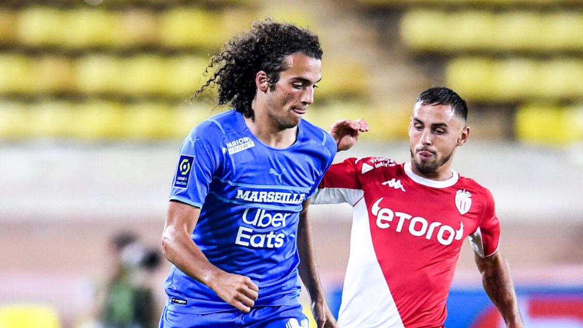 """Mattéo Guendouzi a jugé que l'OM avait """"livré son meilleur match de la saison"""" contre Monaco. Icon Sport"""