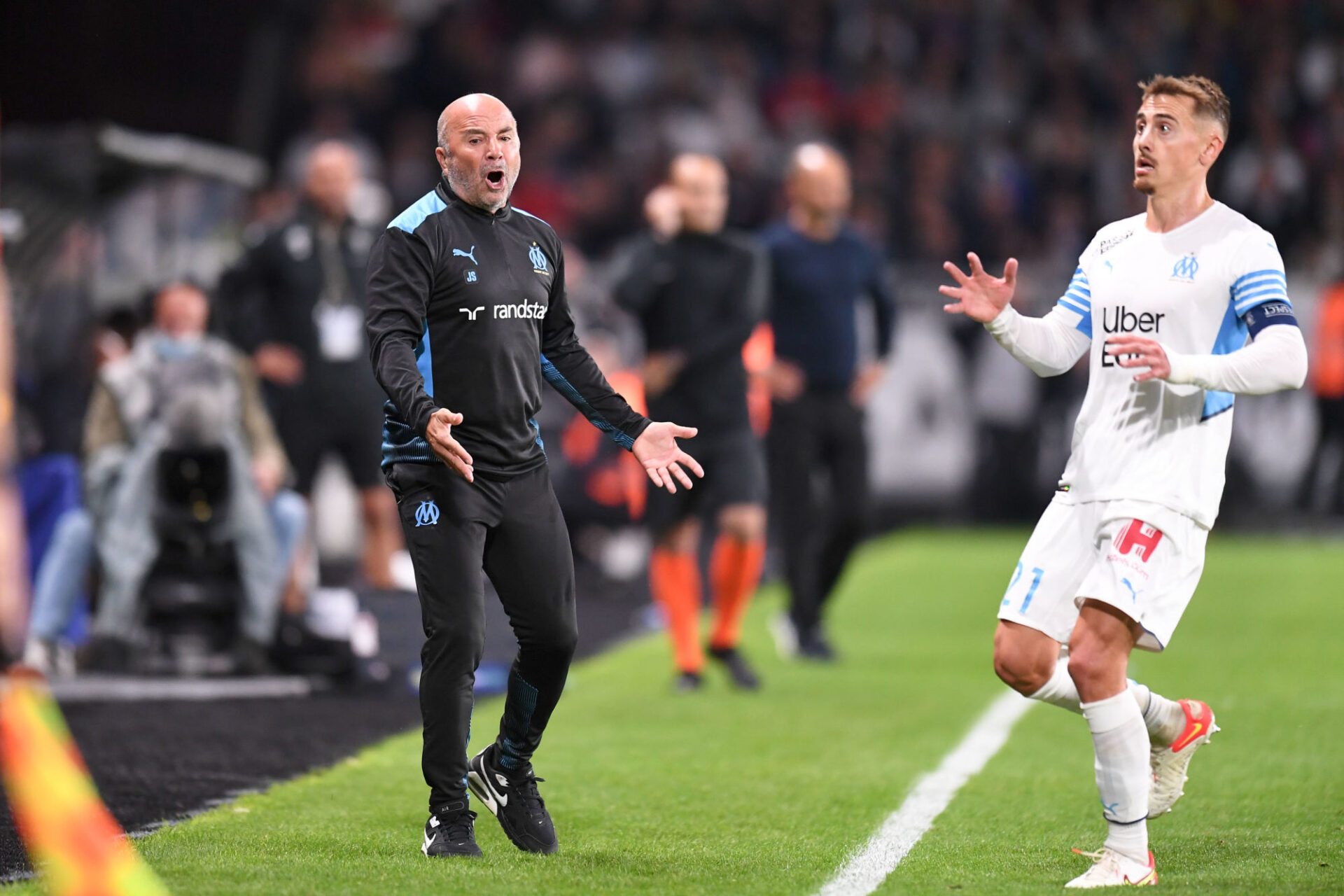 """Jorge Sampaoli a martelé qu'il """"ne fallait pas se croire plus haut que l'OM"""". Icon Sport"""