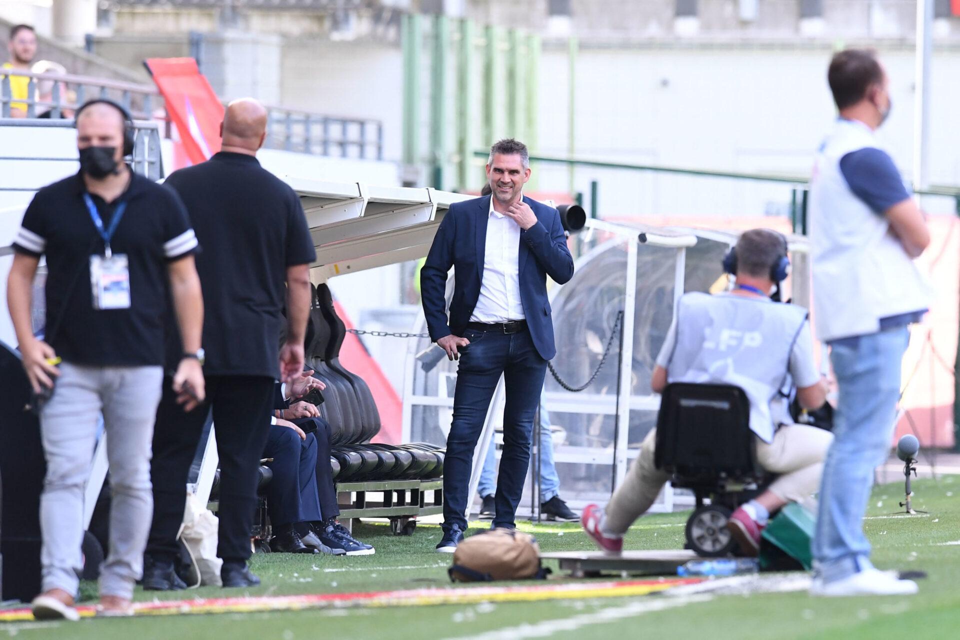 Jocelyn Gourvennec lors du derby du Nord contre Lens. Icon Sport