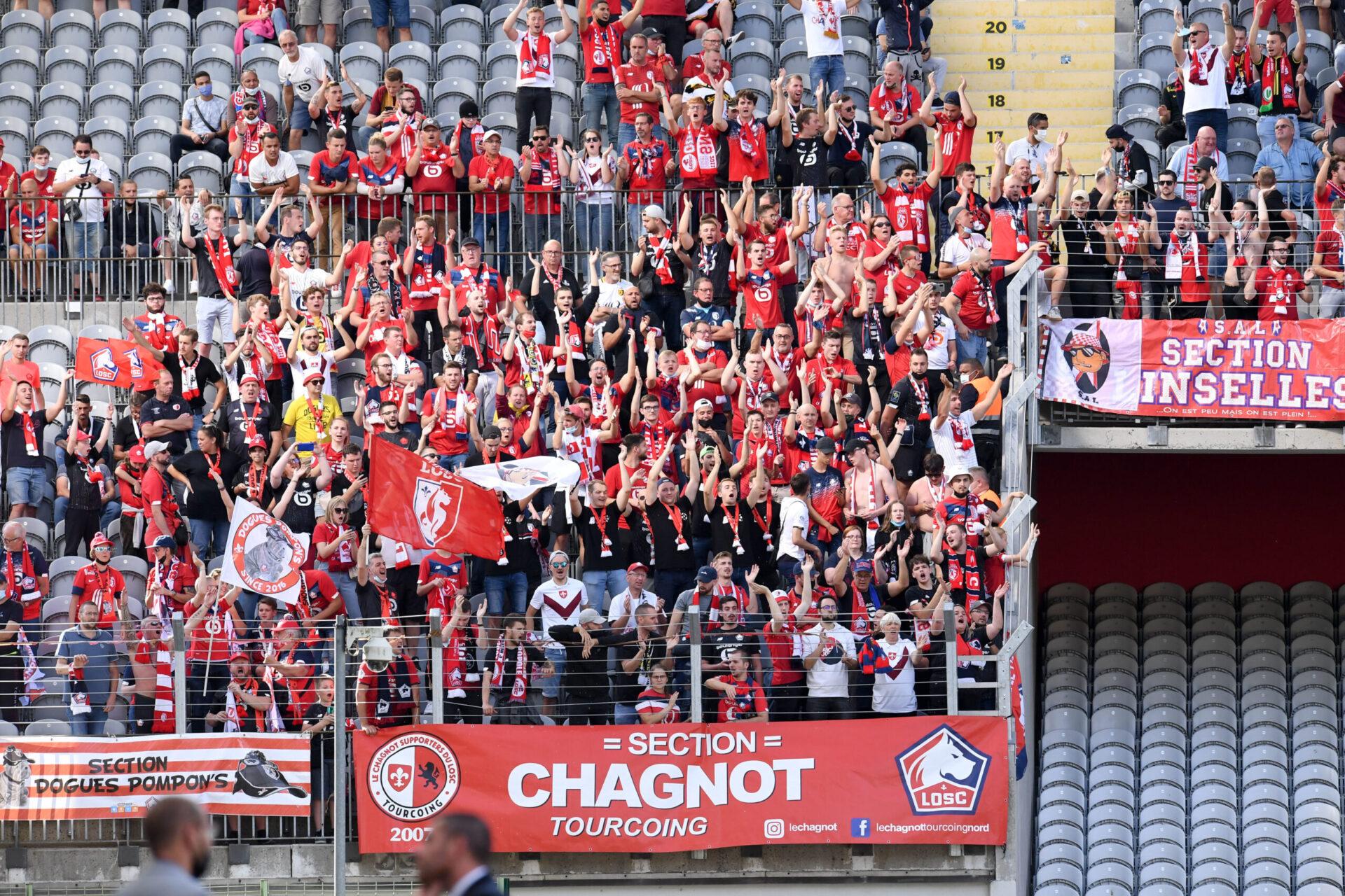Les supporters lillois ne pourront pas se rendre à Strasbourg le 25 septembre prochain (iconsport)