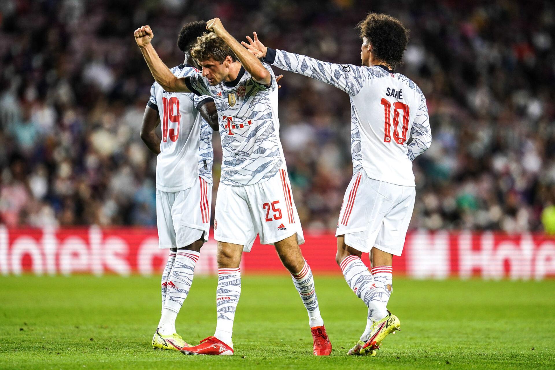 Thomas Müller toute à sa joie après avoir marqué le premier but du Bayern. Icon Sport