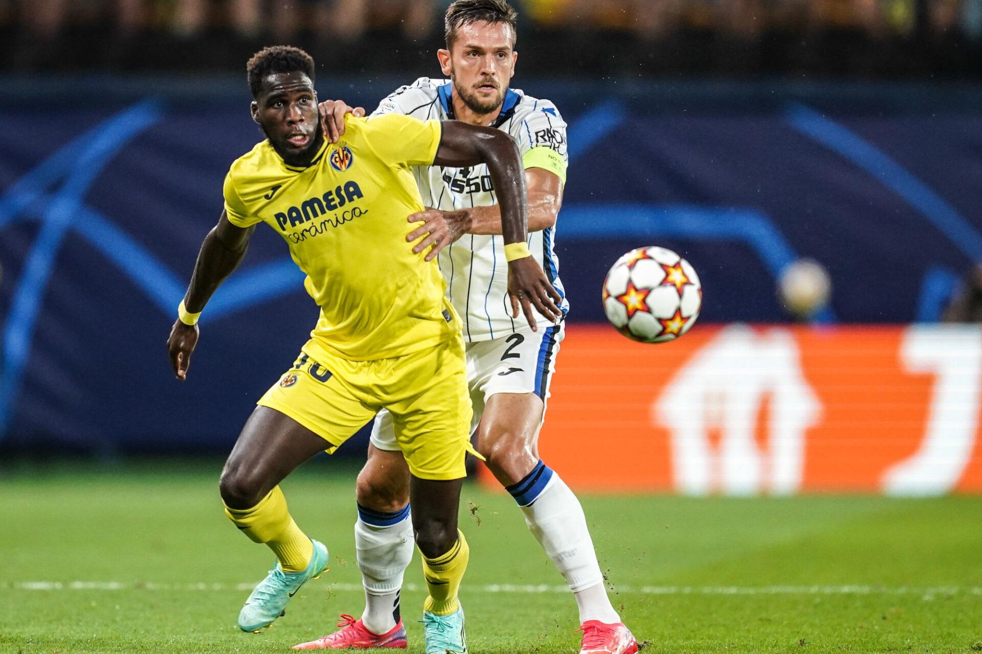 L'ancien attaquant de Reims Boulaye Dia était titulaire avec Villarreal lors du match nul disputé contre l'Atalanta (2-2). Icon Sport