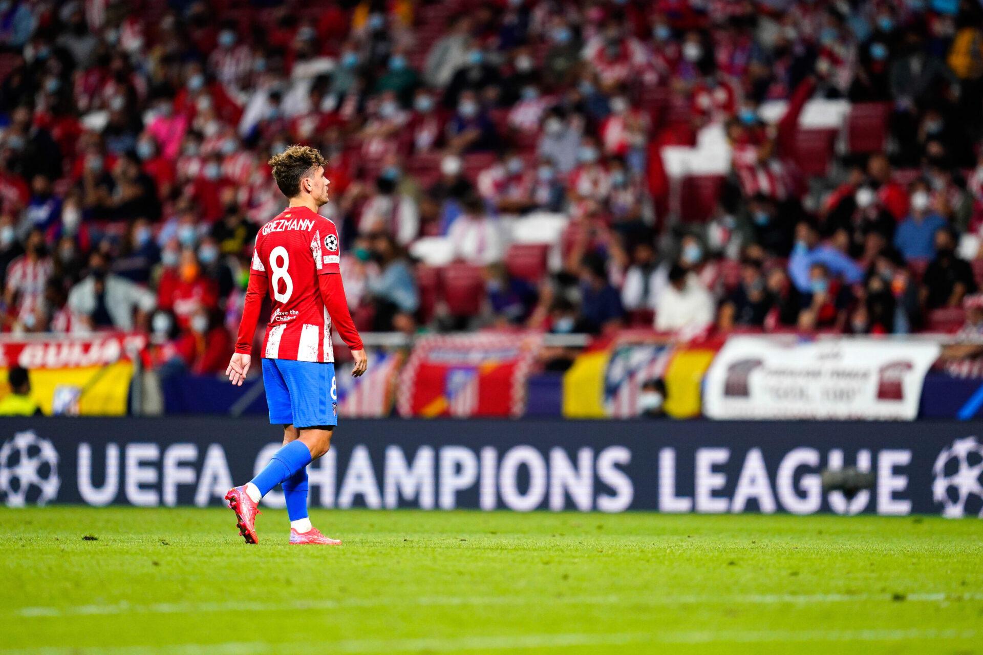 Antoine Griezmann disputait hier, mercredi 16 septembre 2021, son premier match au Wanda-Metropolitano depuis son retour à l'Atlético (IconSport)